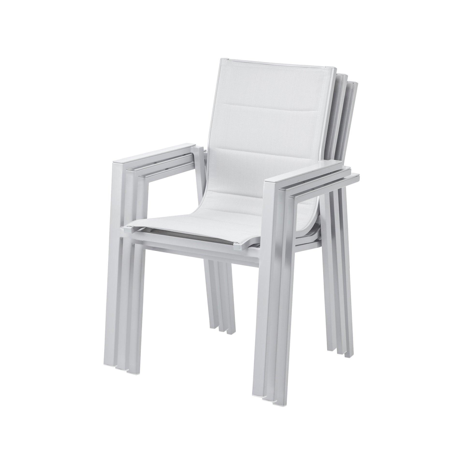 Set tavolo e sedie Odyssea in alluminio grigio / argento 8 posti - 2