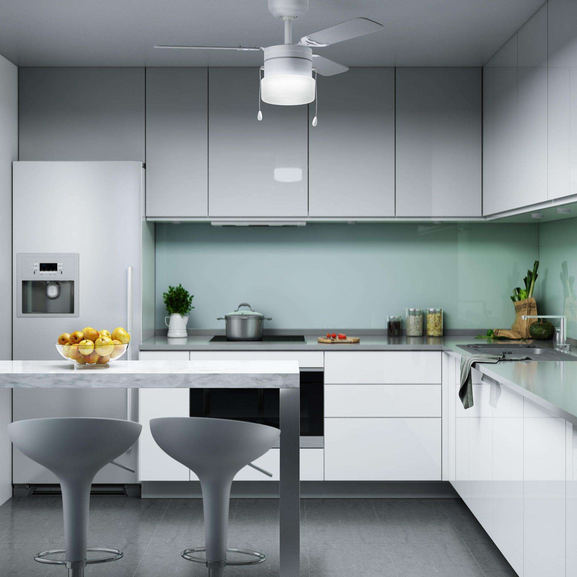 Ventilatore da soffitto Ana, grigio argento/bianco, D. 91 cm INSPIRE - 4