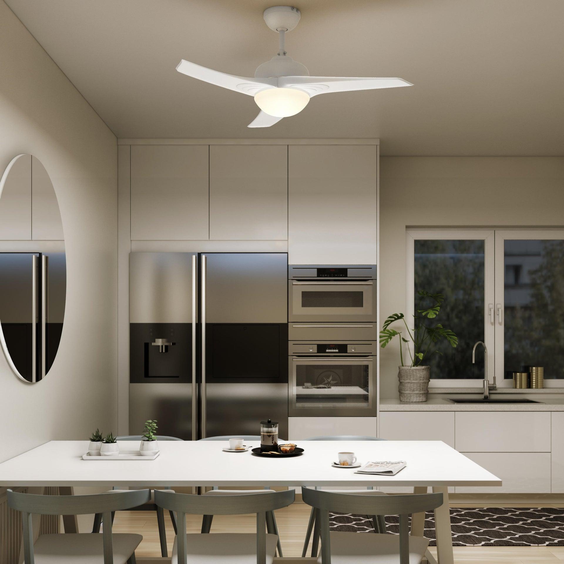 Ventilatore da soffitto Aruba, bianco, D. 112 cm , con telecomando INSPIRE - 1
