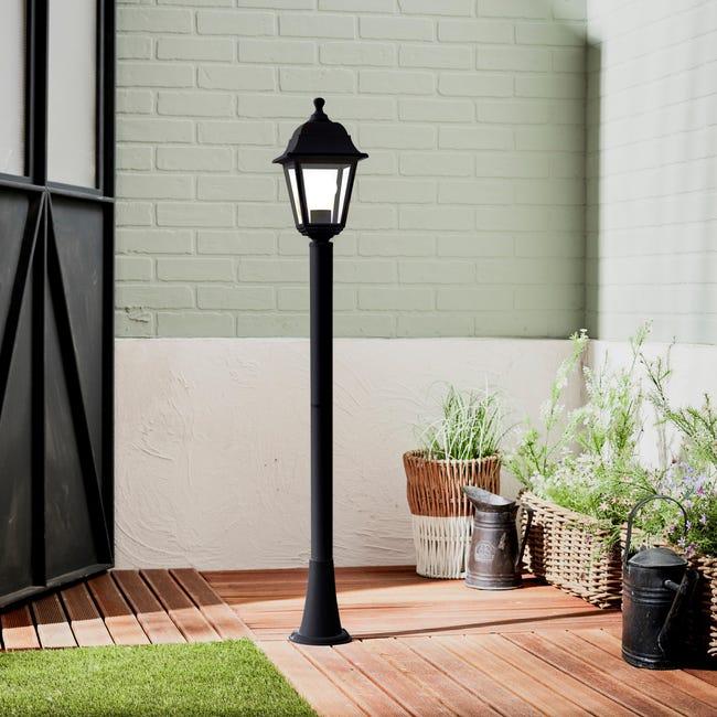 Lampione senza fonte luminosa Sima H15.4 cm in plastica, nero, E27 1x MAX 60W IP44 - 1