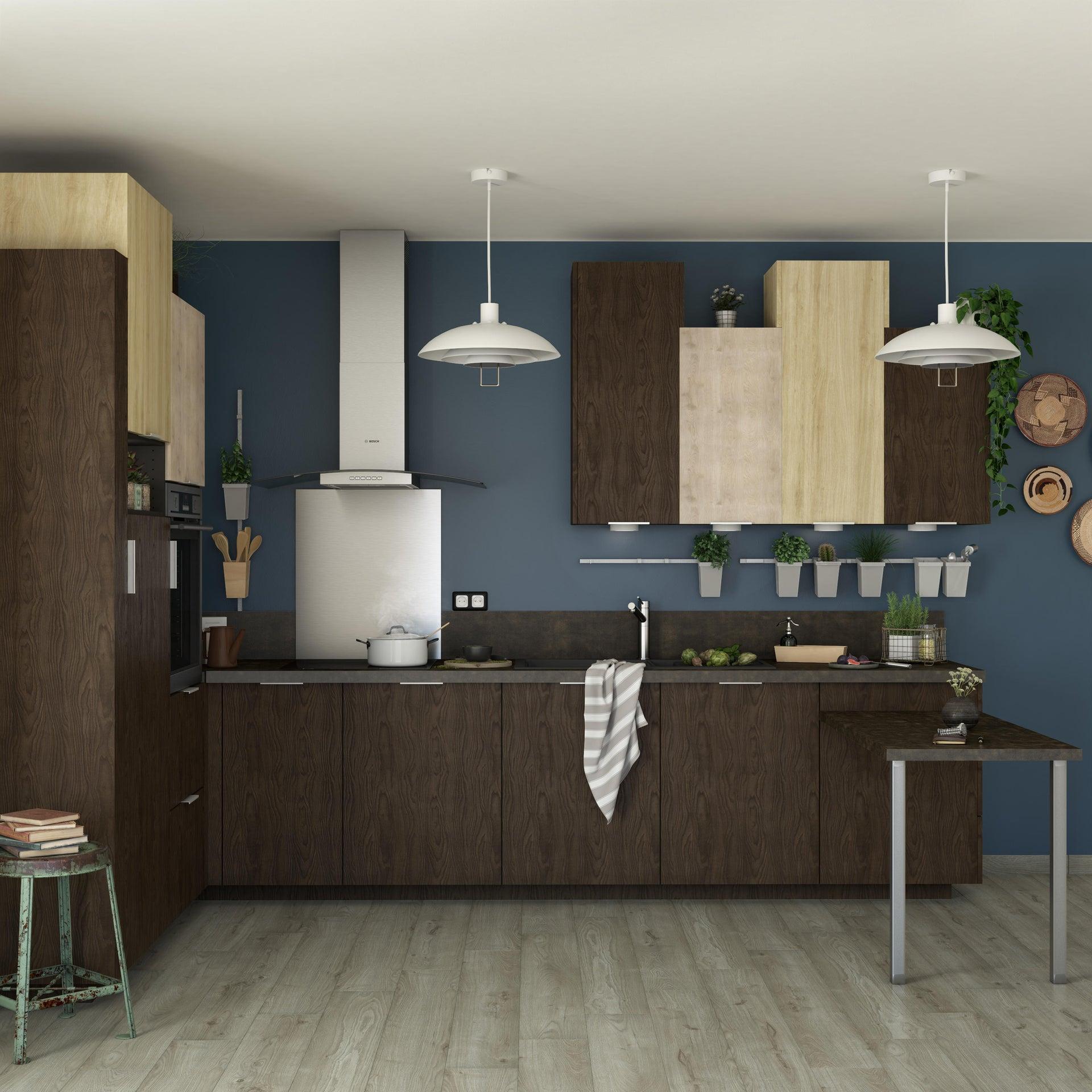 Porta dell'armadio da cucina DELINIA ID Siena 59.7 x 76.5 x 76.5 cm rovere moro - 7