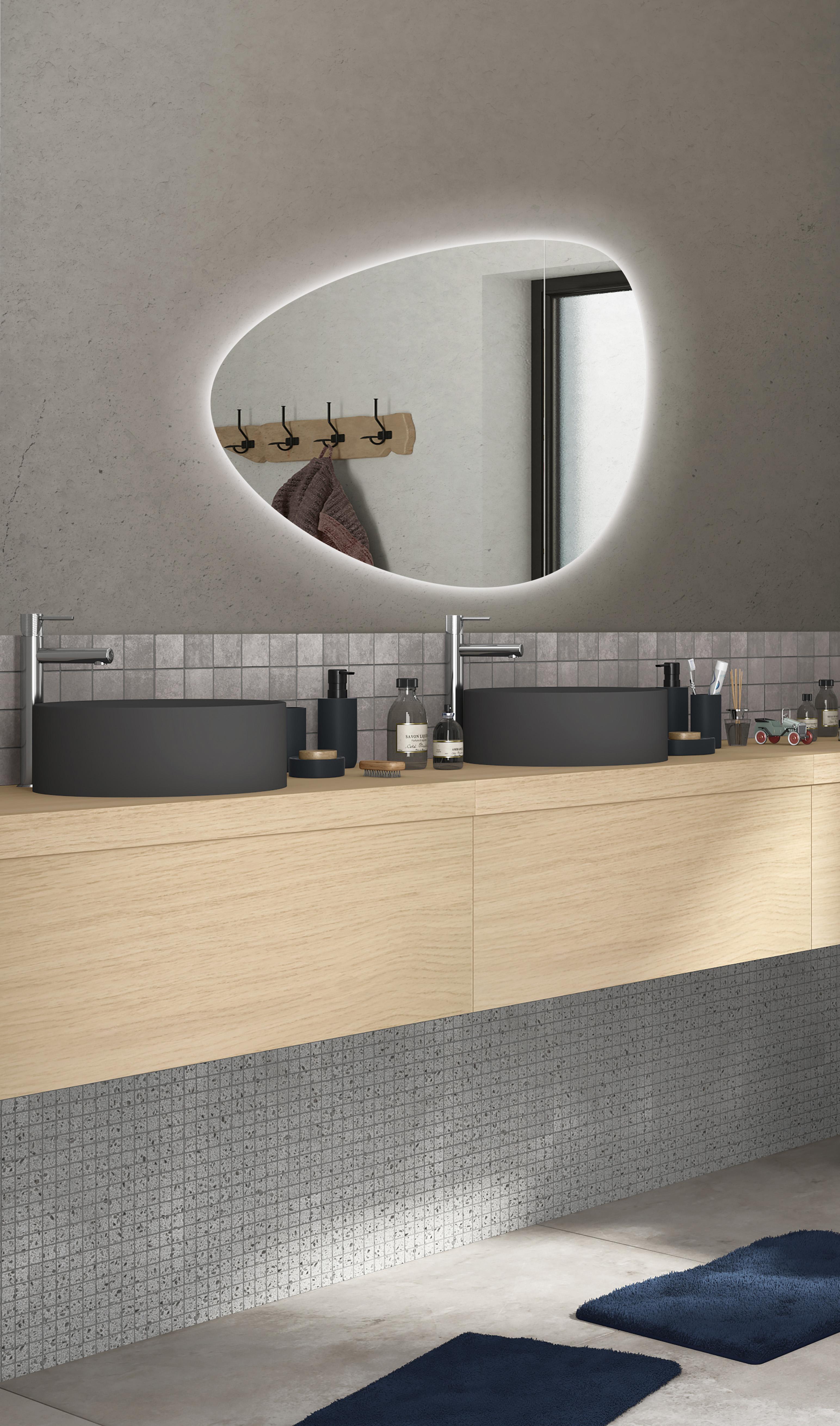 Specchio Con Illuminazione Integrata Bagno Ovale Gota L 80 X H 55 Cm Sensea Leroy Merlin