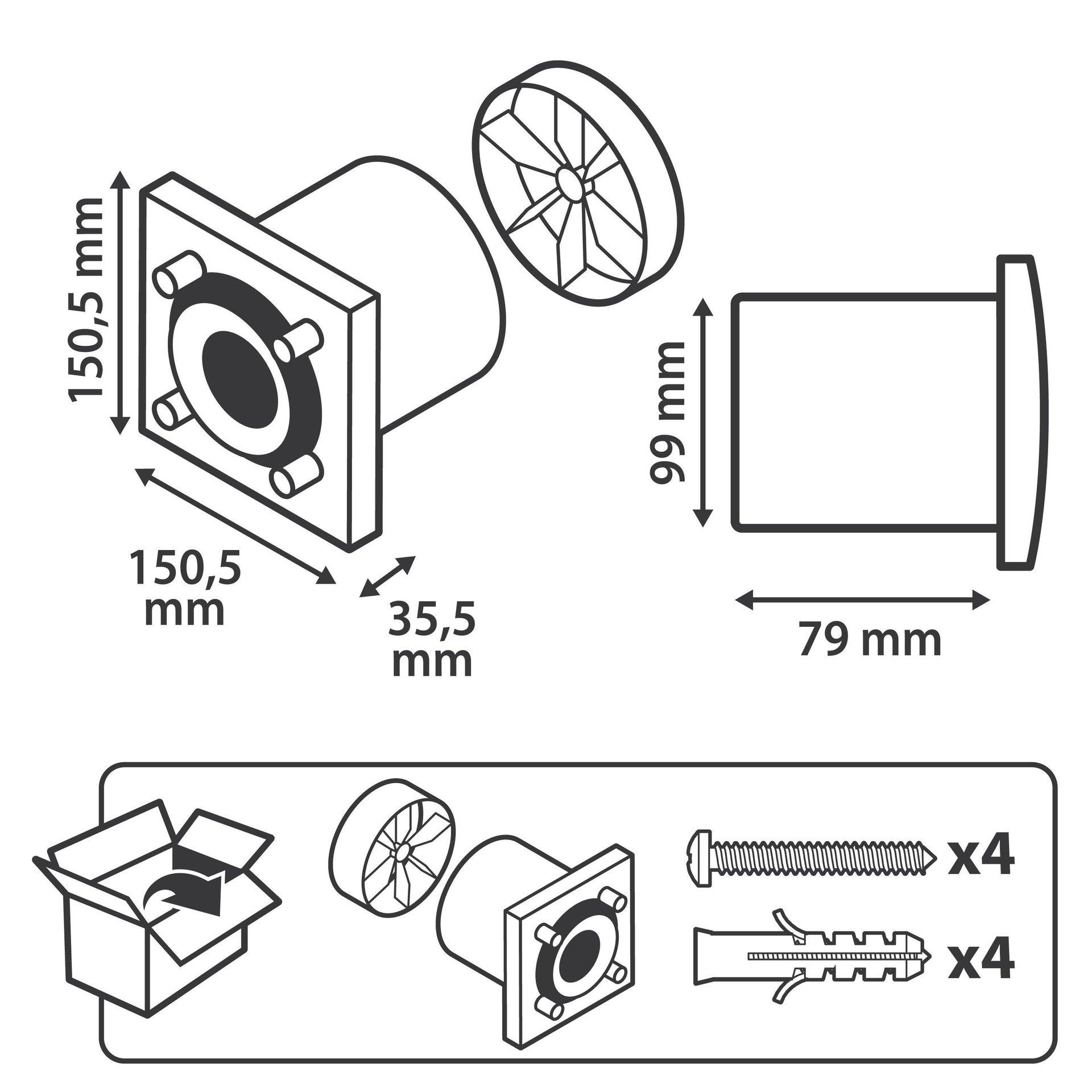 Aspiratore assiale EQUATION Ø 100 mm - 5