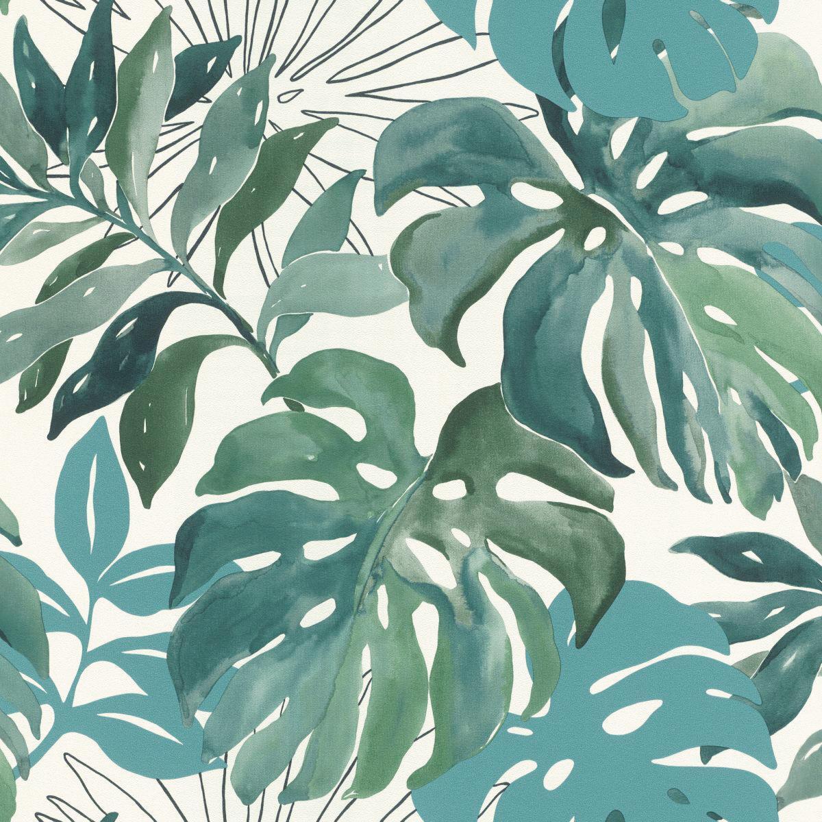 Carta da parati Botanical verde, 53 cm x 10.5 m - 11