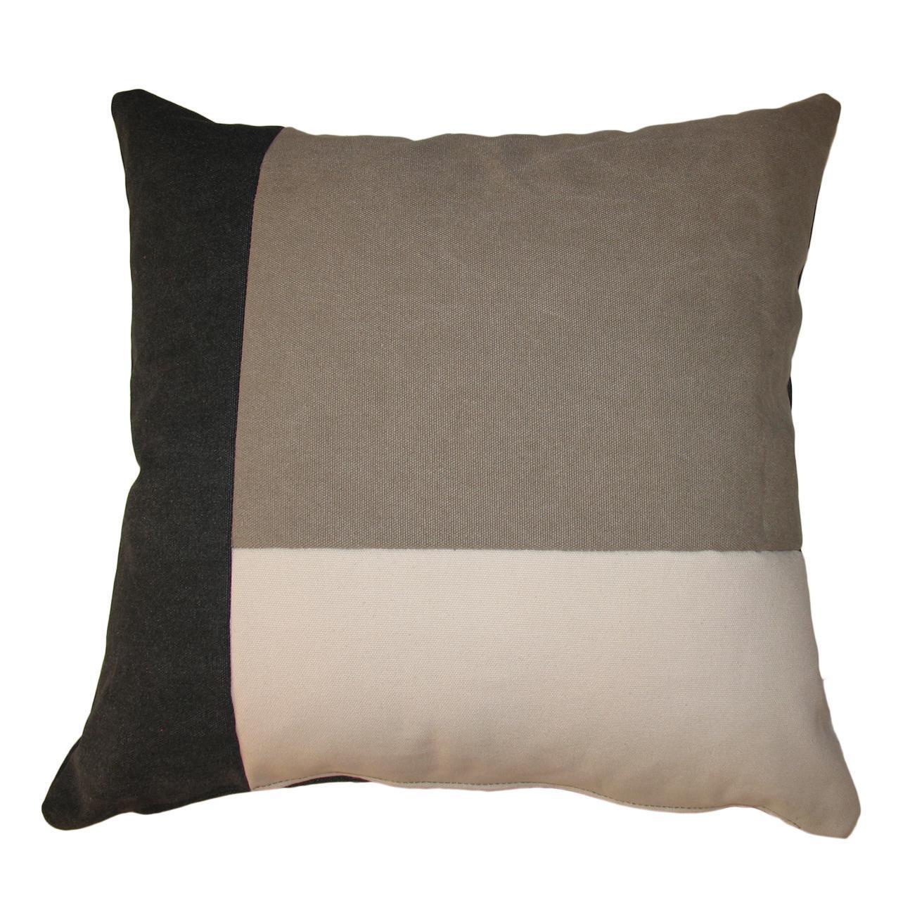 Cuscino Patch grigio 50x50 cm - 1