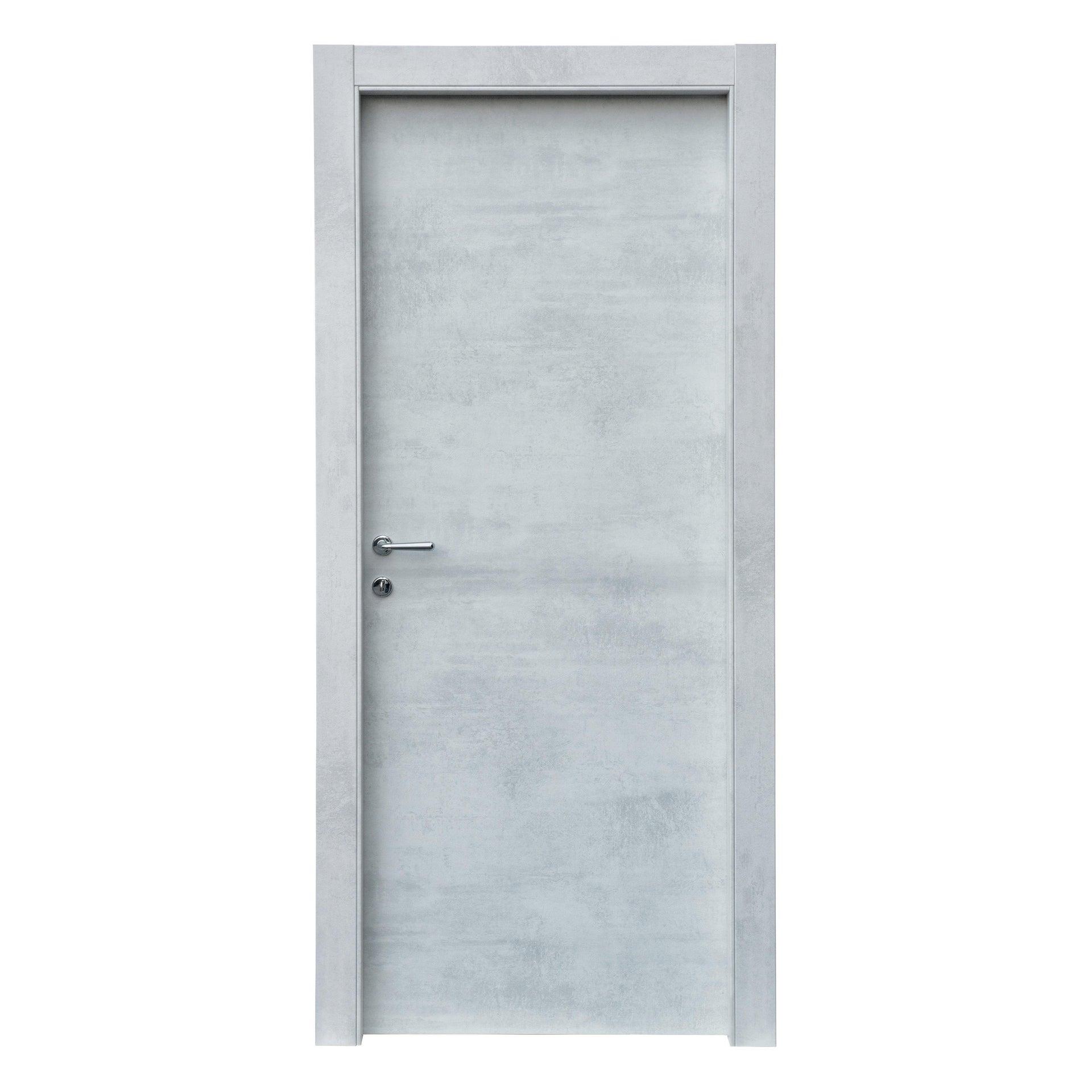Porta a battente Cemento grigio L 80 x H 210 cm reversibile - 3