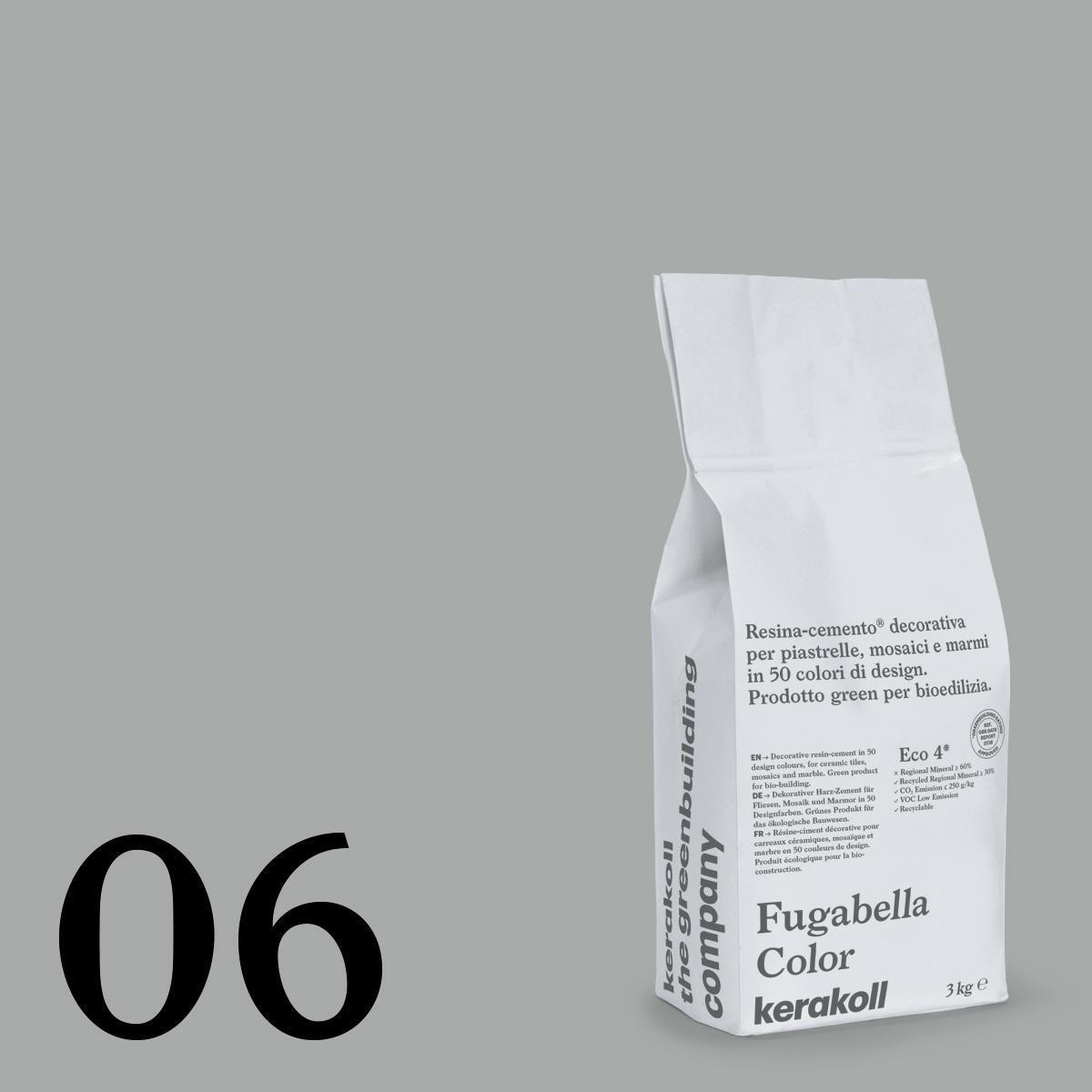 Stucco in polvere FUGABELLA COLOR KERAKOLL 3 kg grigio chiaro - 1