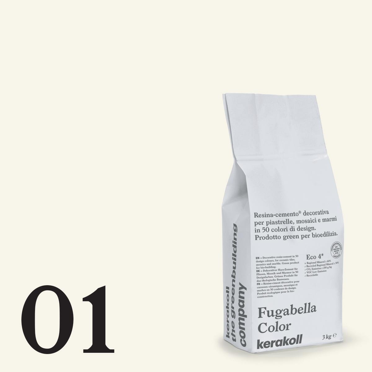 Stucco in polvere FUGABELLA COLOR KERAKOLL 3 kg bianco - 1