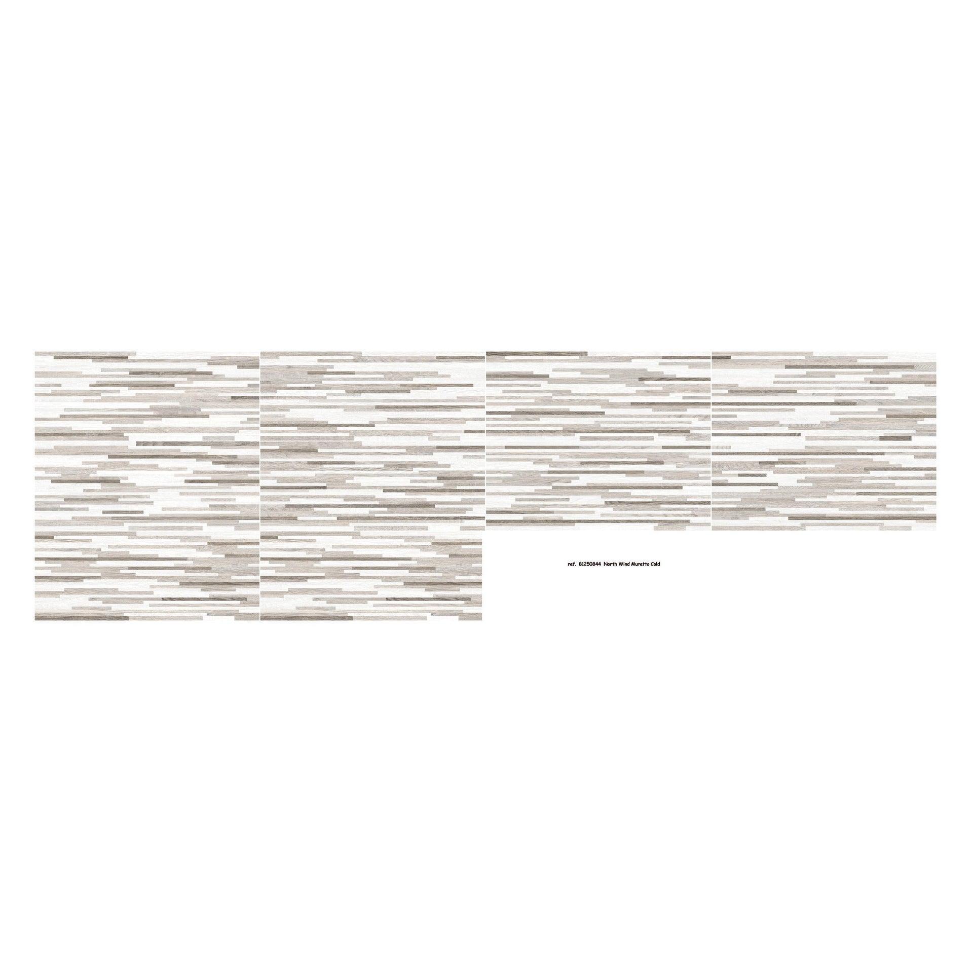 Piastrella per rivestimenti North Wind 20 x 50 cm sp. 0.8 mm grigio - 2
