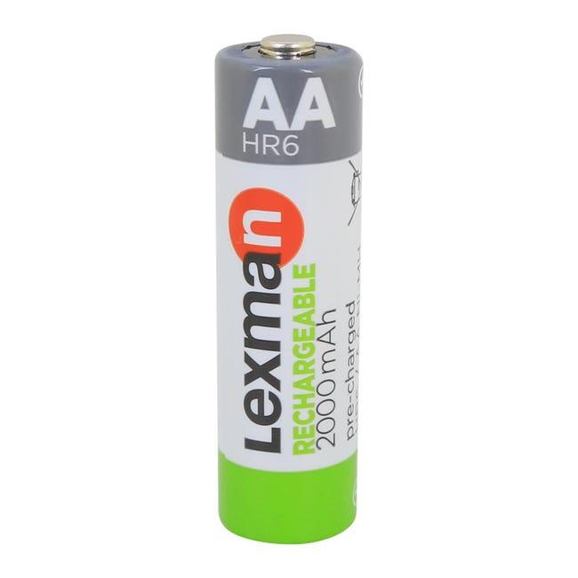 Pila ricaricabile HR6 LEXMAN 844976 4 batterie - 1