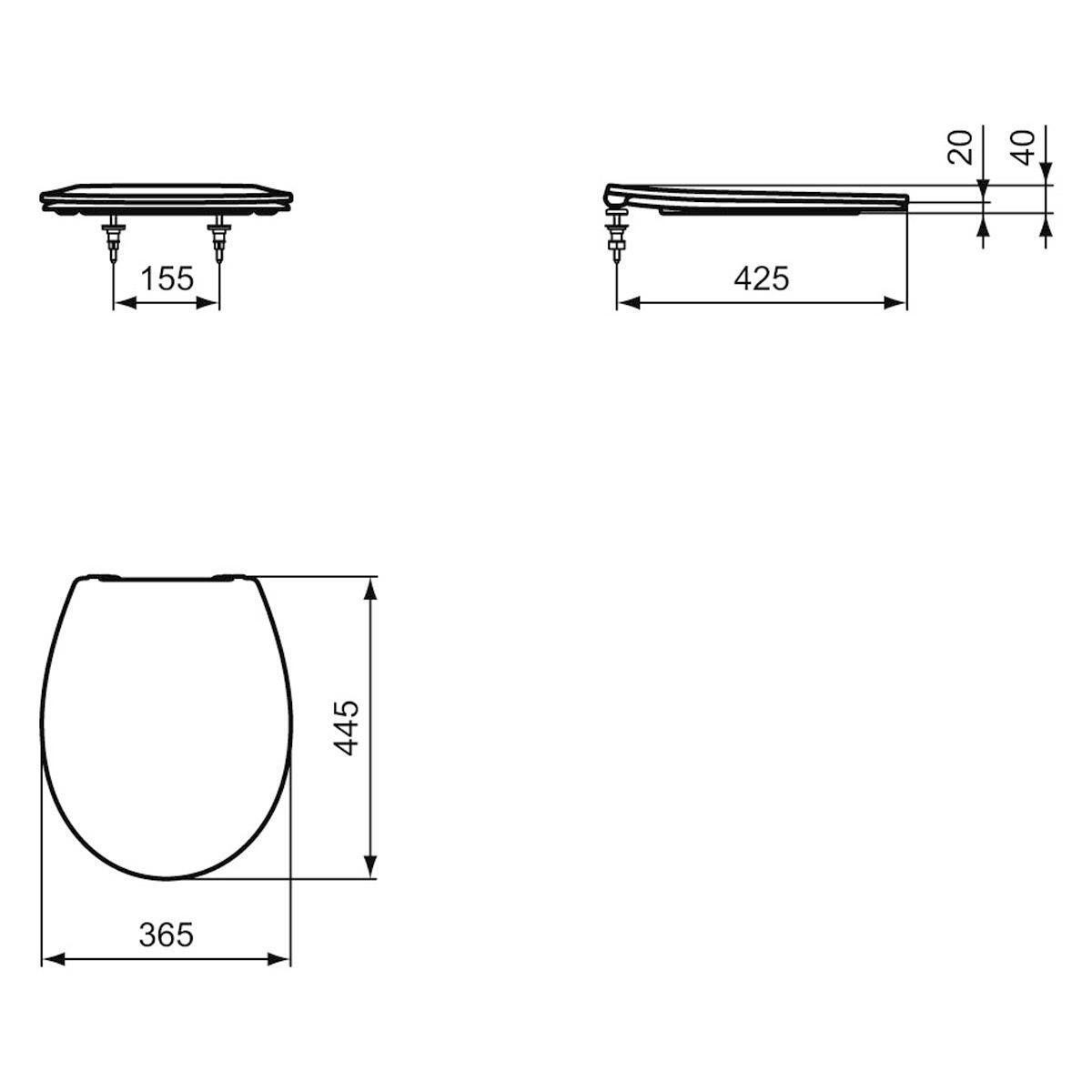Coppia sanitari pavimento filo muro Miky New IDEAL STANDARD - 2