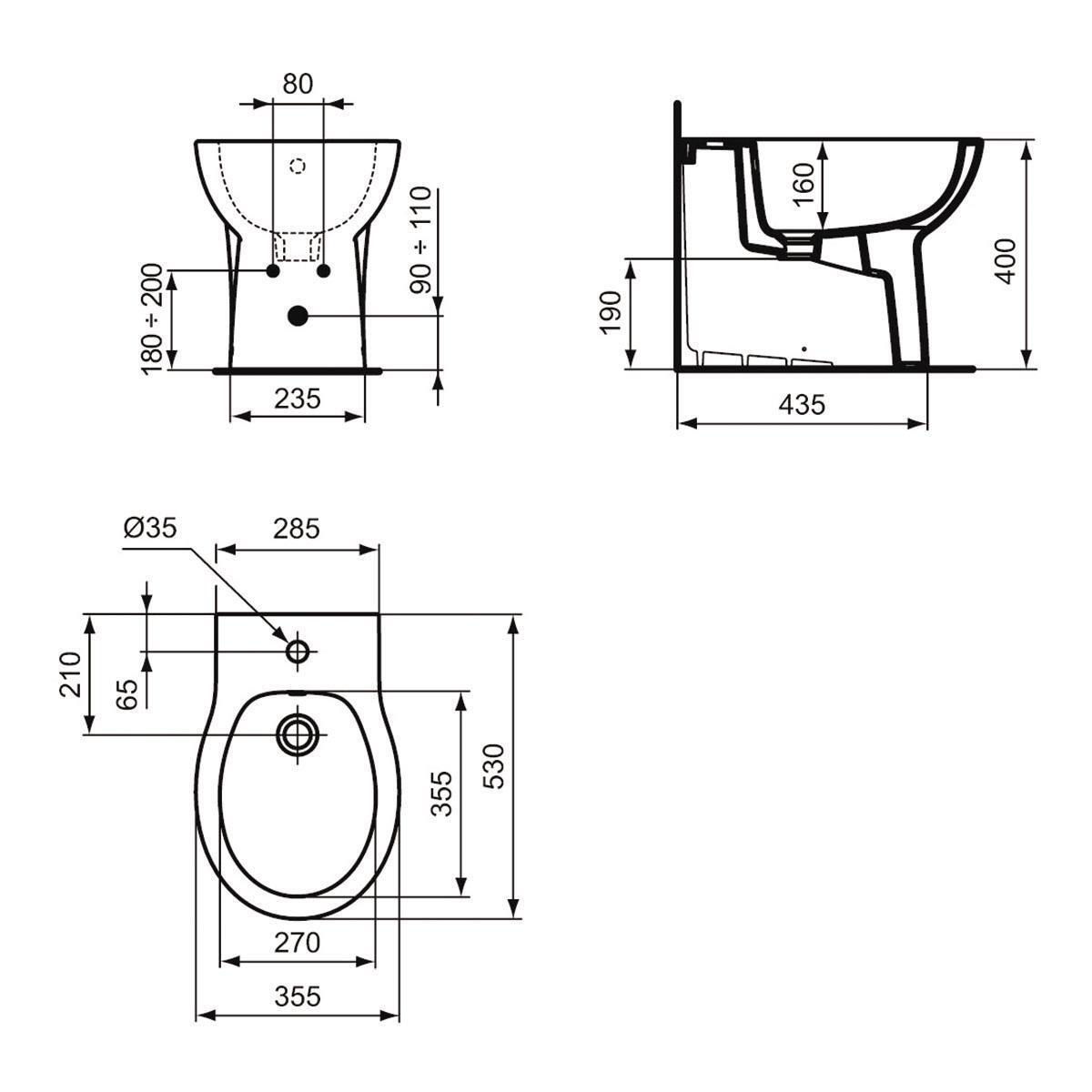 Coppia sanitari pavimento filo muro Miky New IDEAL STANDARD - 7
