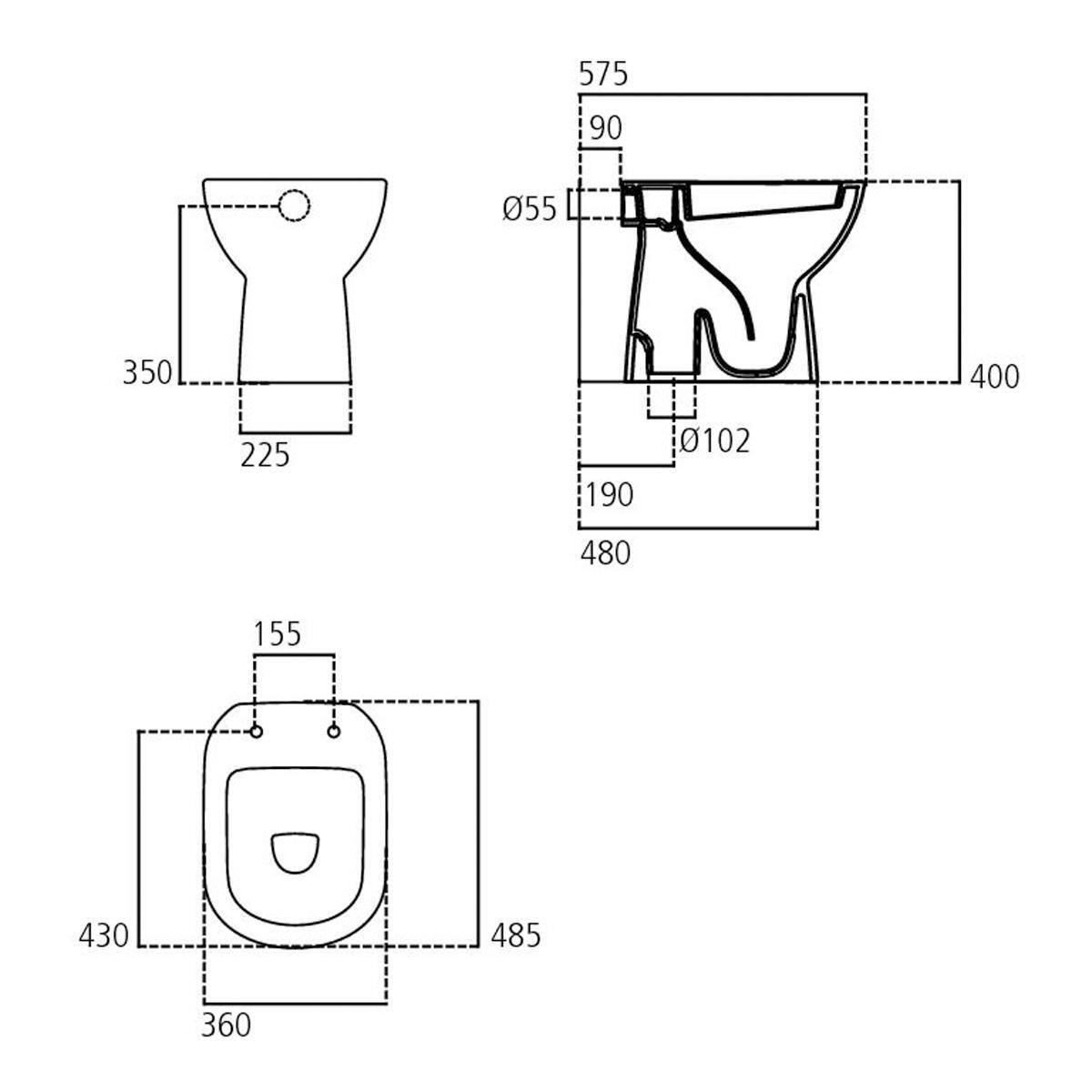 Vaso wc a pavimento suite IDEAL STANDARD - 2