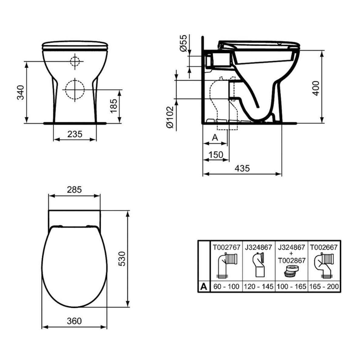Coppia sanitari pavimento filo muro Miky New IDEAL STANDARD - 4