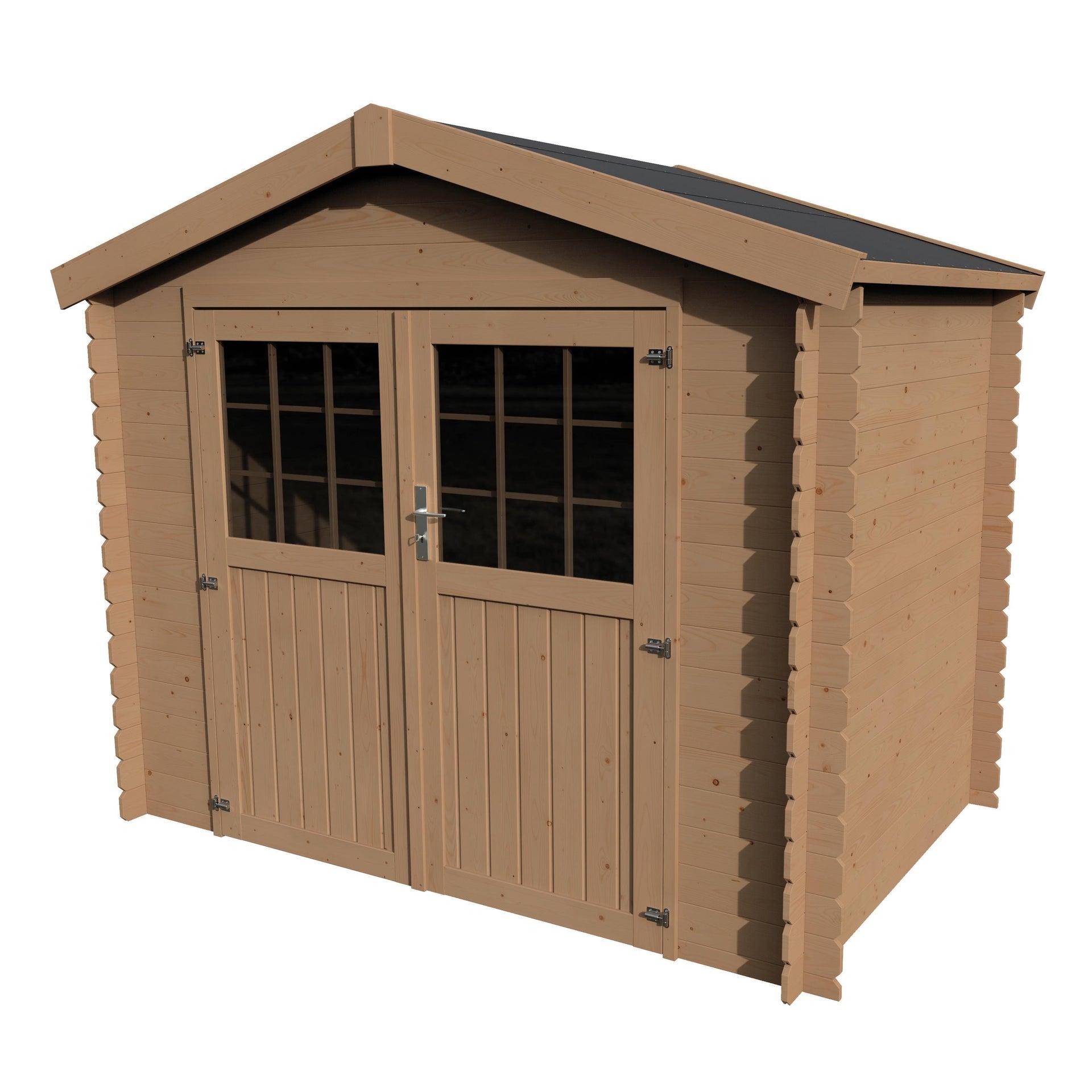 Casetta da giardino in legno Impregnata Narciso, superficie interna 3.73 m² e spessore parete 19 mm - 4