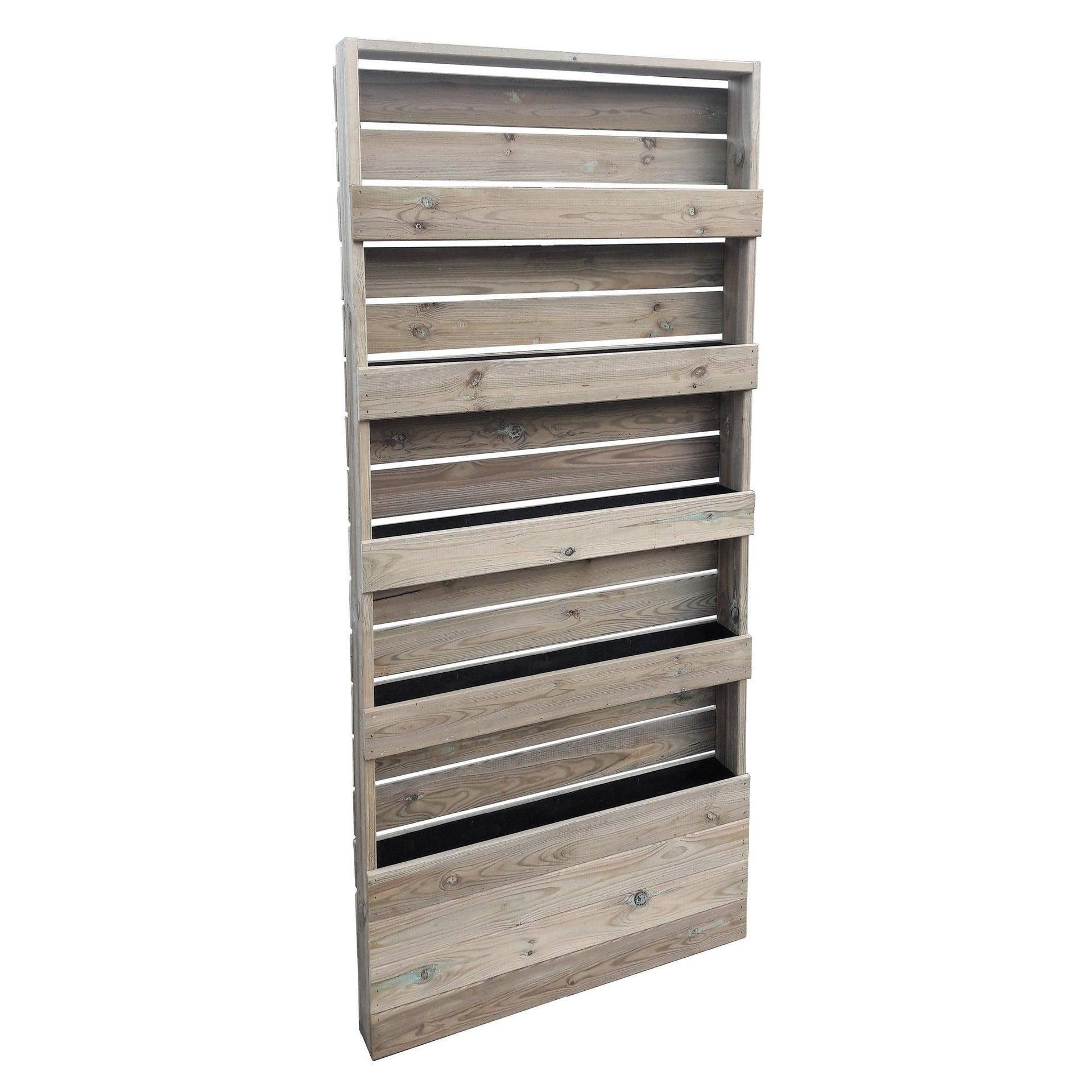 Fioriera per orto alta in legno 09-65.5 verde L 12 x P 45 x H 180 cm - 1