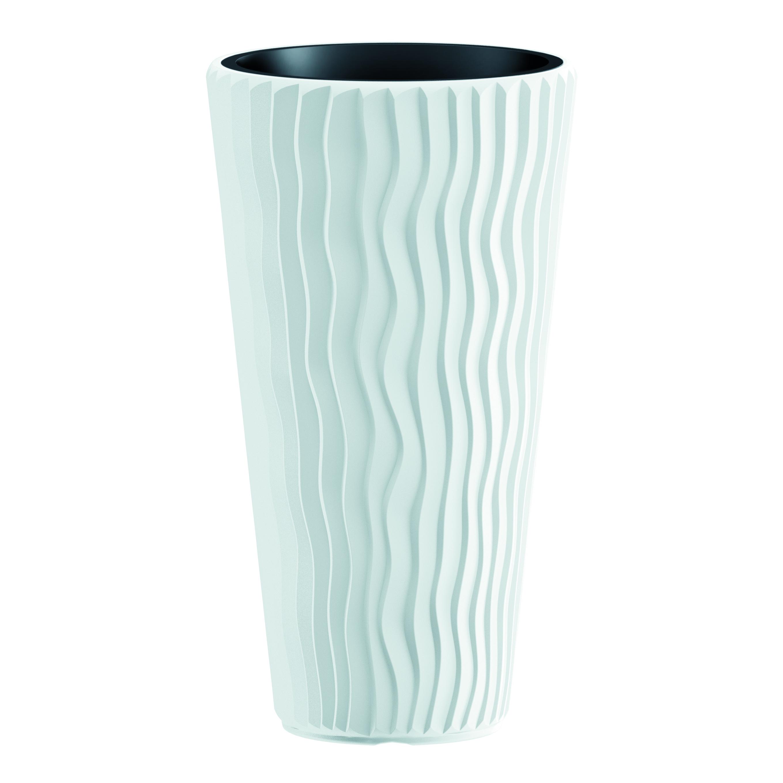 Vaso Sandy PROSPERPLAST in plastica colore bianco H 62 cm, Ø 35 cm