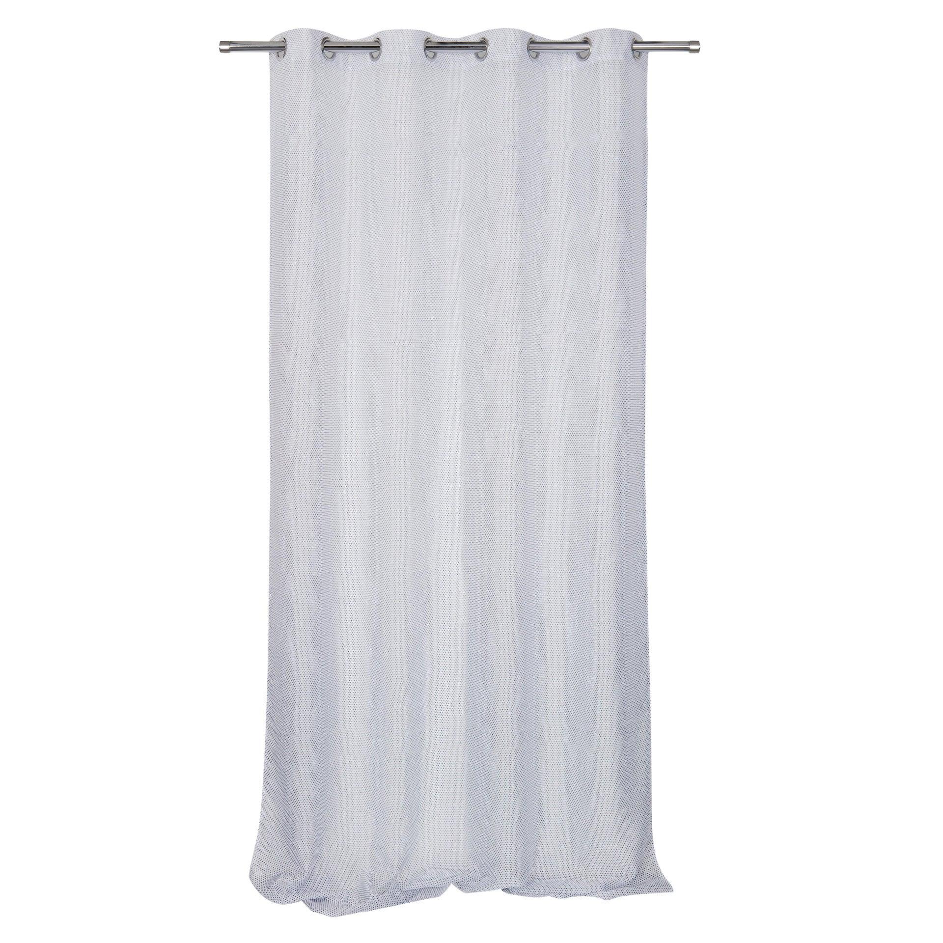 Tenda Crocky bianco e nero occhielli 140 x 260 cm - 3