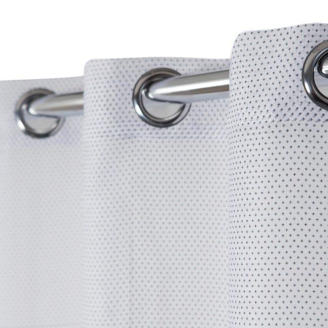 Tenda Crocky bianco e nero occhielli 140 x 260 cm - 1