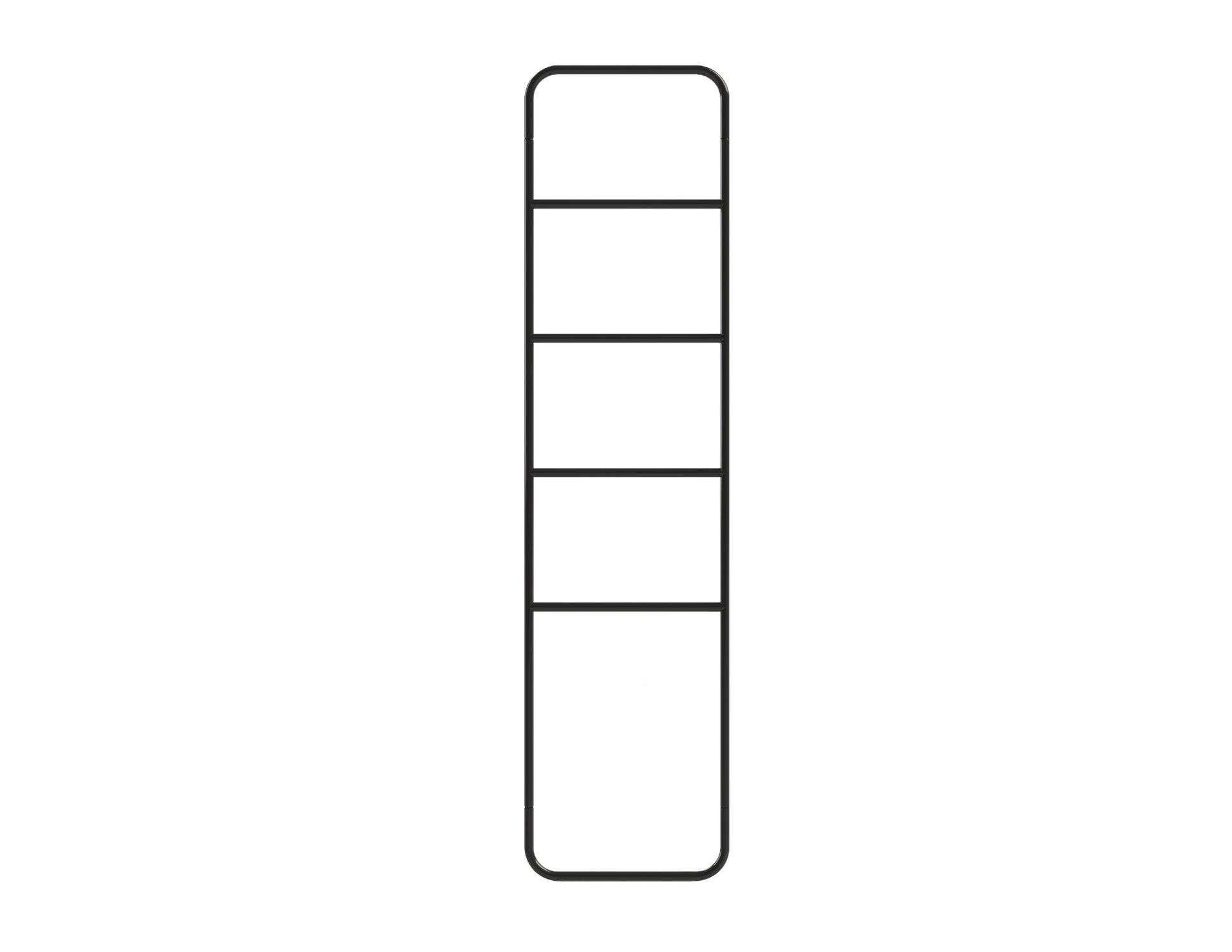Scala porta asciugamani Credence in acciaio nero - 2
