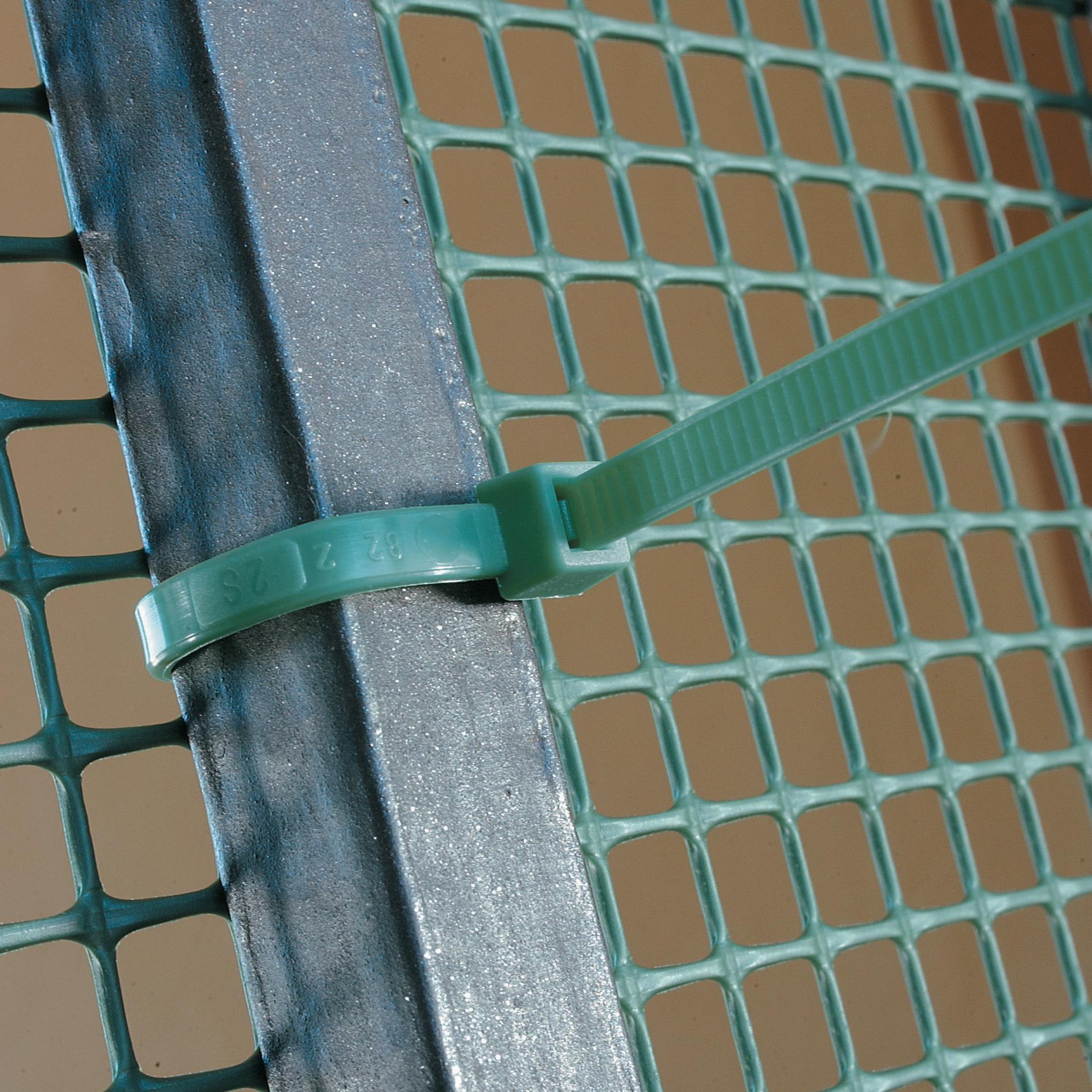 Fascetta a collare verde in pvc 10 cm x 50 pezzi - 2