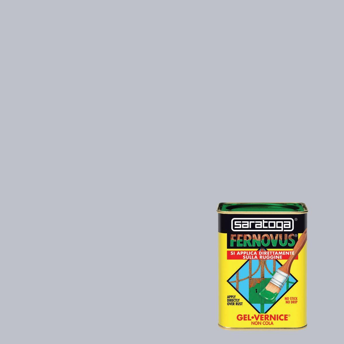 Smalto antiruggine SARATOGA Fernovus grigio perla 0.05 L - 6