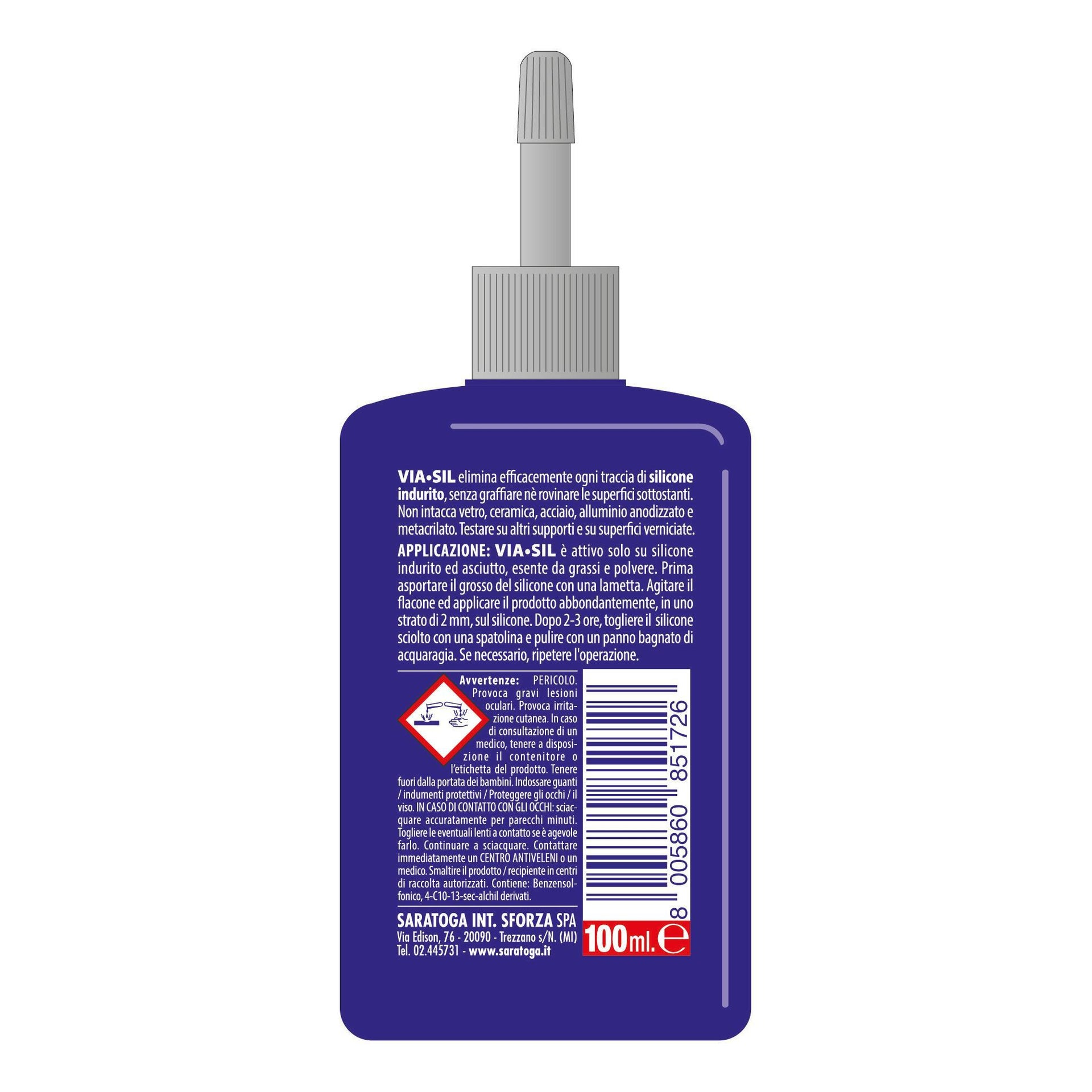 Rimuovi silicone Viasil per eliminare il prodotto indurito - 3