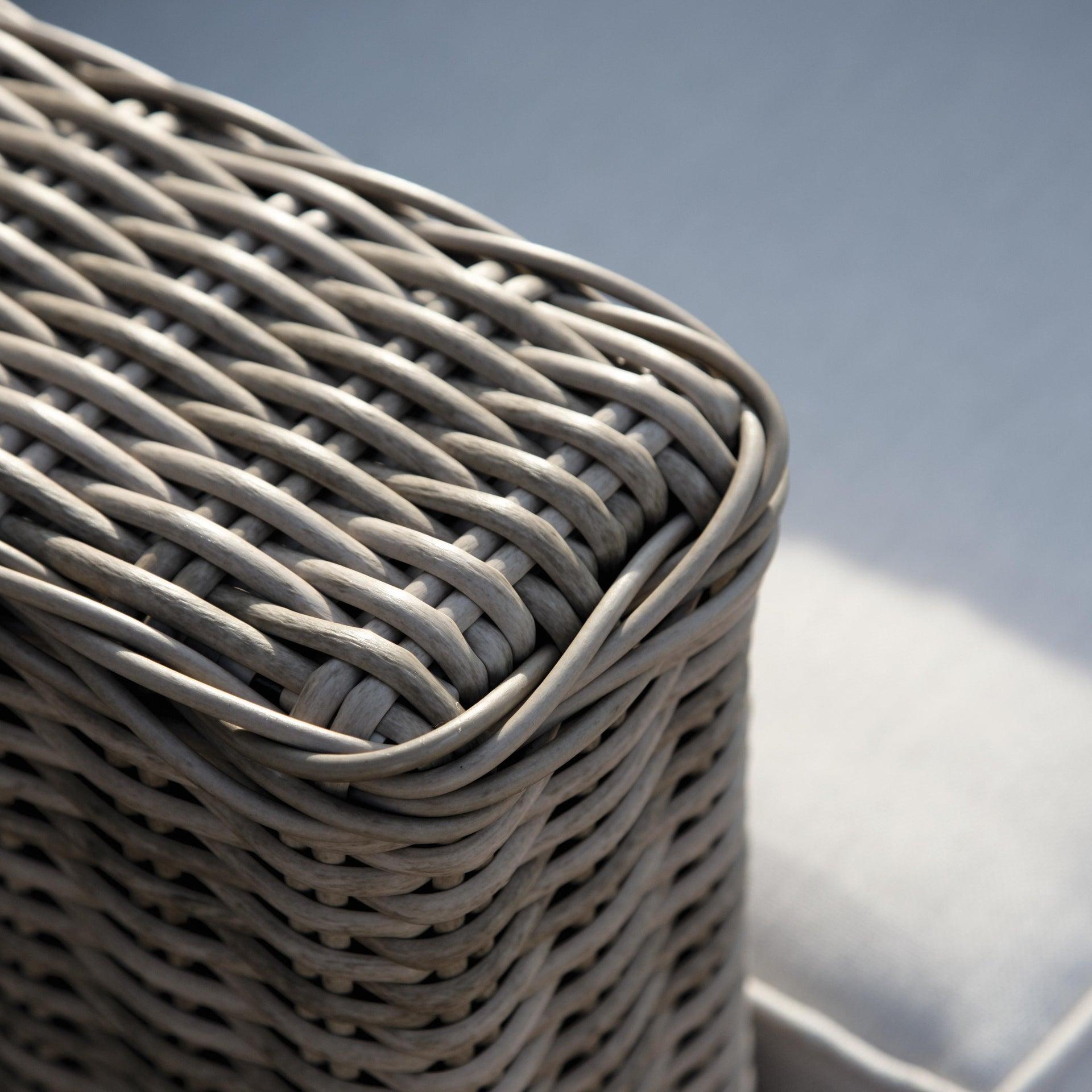 Divano da giardino con cuscino 2 posti in alluminio Costarica NATERIAL colore naturale - 2