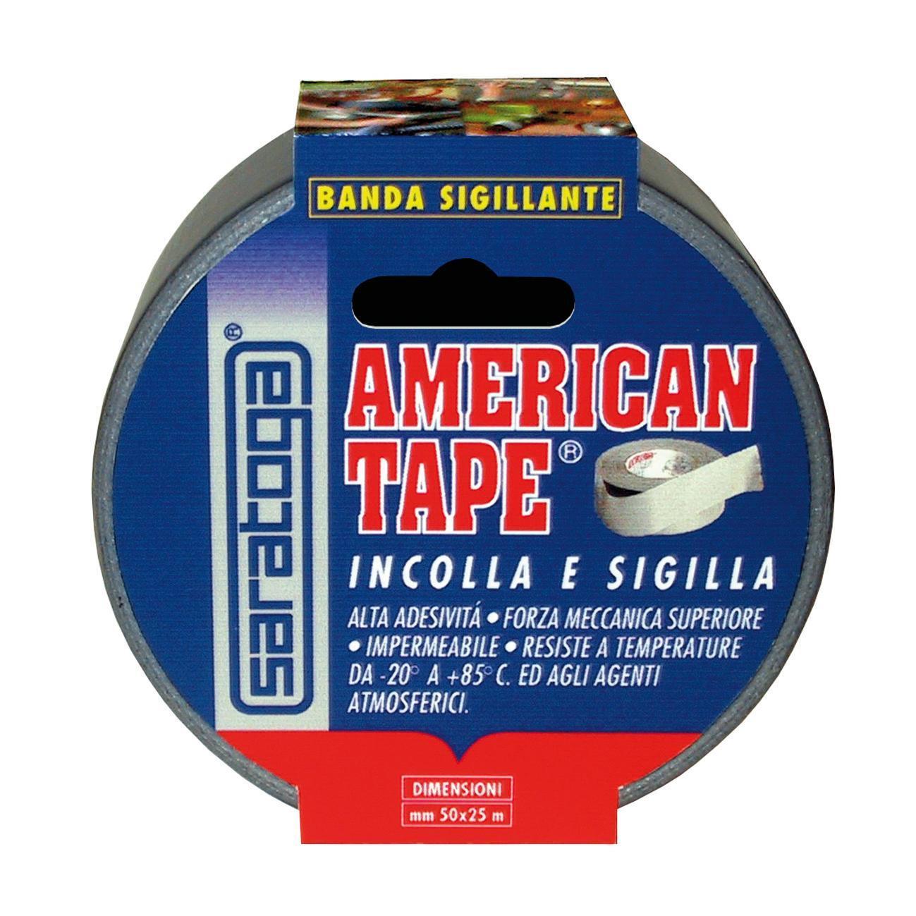 Nastro adesivo American Tape 25 m 50 mm x 25 m grigio - 1