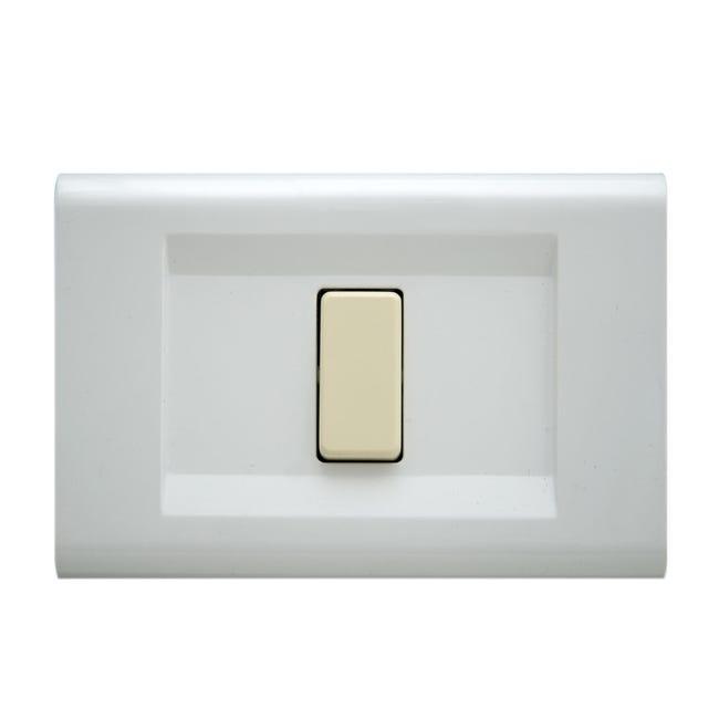 Placca Laser FEB 1 modulo bianco - 1