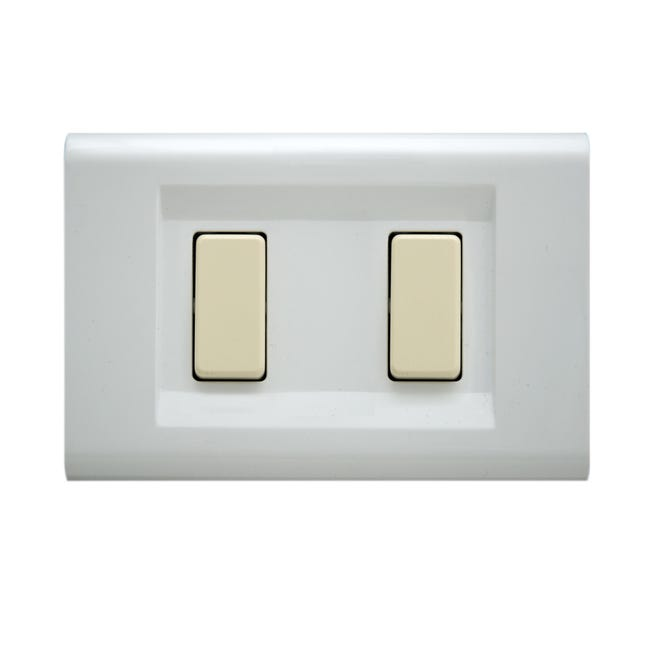 Placca Laser FEB 2 moduli bianco - 1