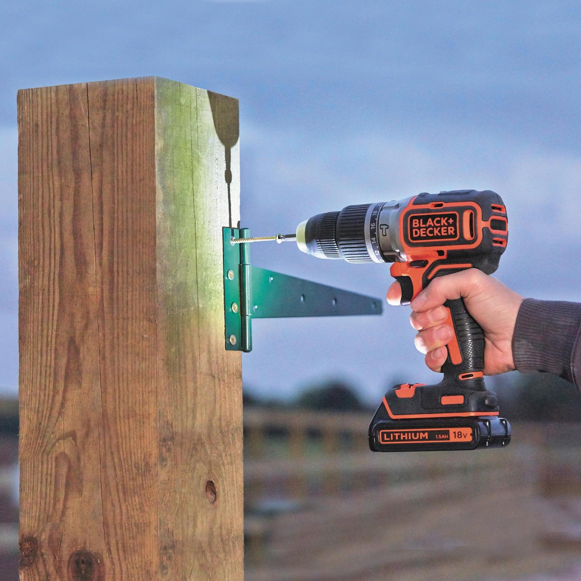 Trapano avvitatore a batteria BLACK + DECKER BL188KB-QW 18 V, 1.5 Ah, 2 batterie - 5