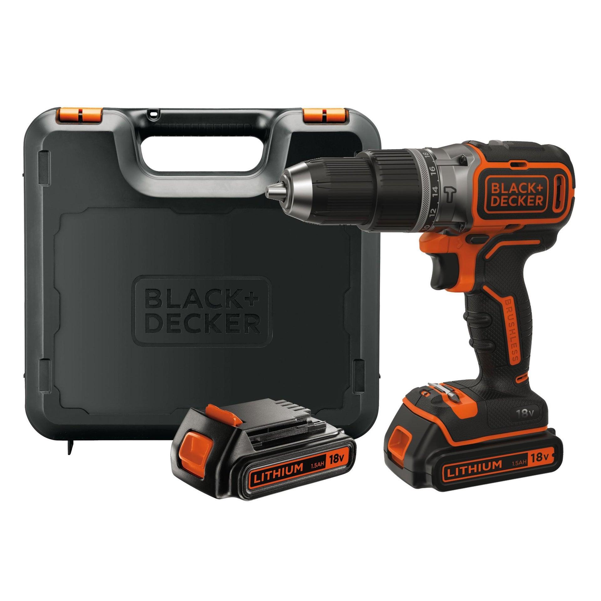 Trapano avvitatore a batteria BLACK + DECKER BL188KB-QW 18 V, 1.5 Ah, 2 batterie - 7