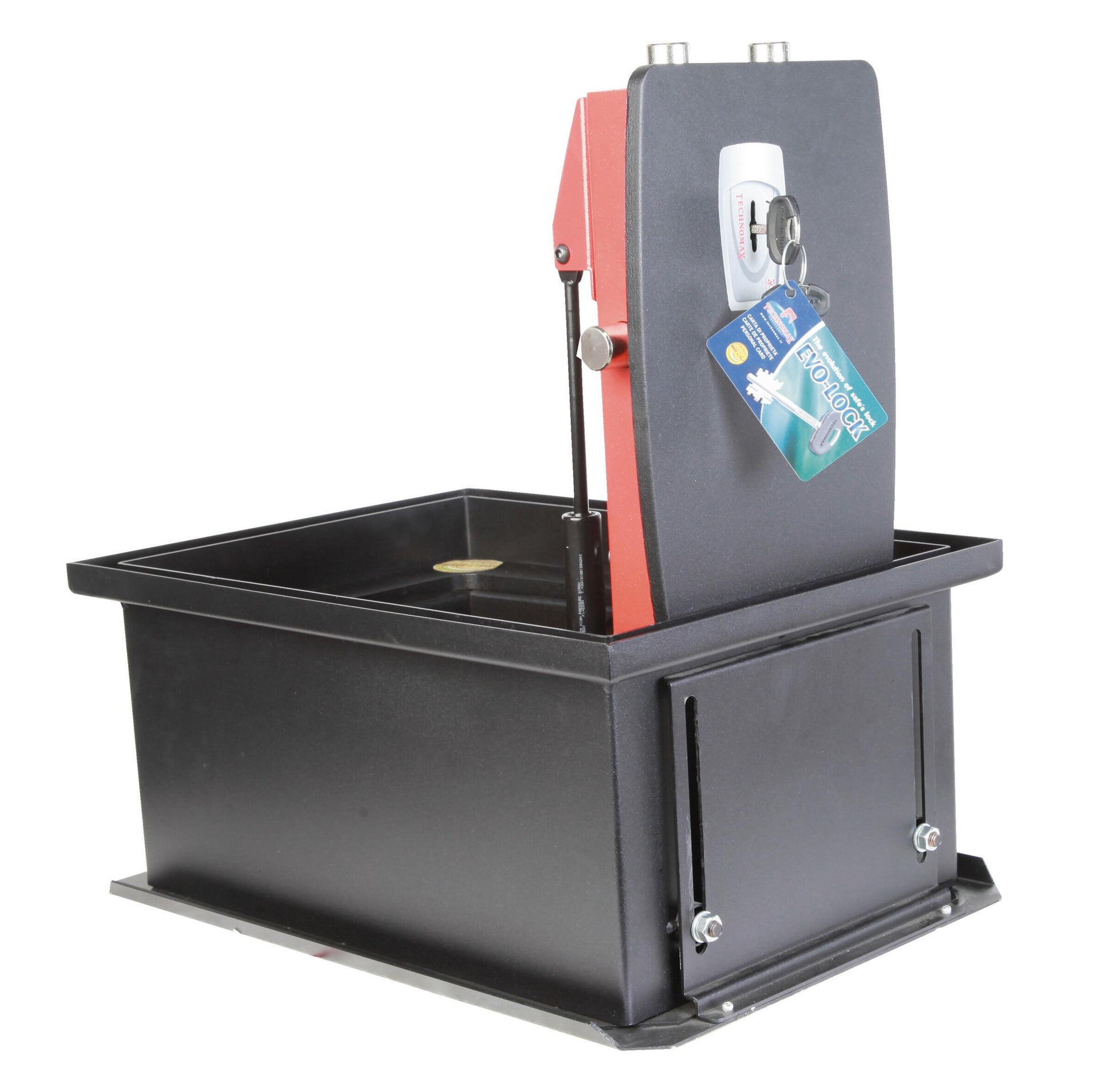 Cassaforte a chiave TECHNOMAX NF/4K da incassare a pavimento L44 x P32 x H21 cm - 3