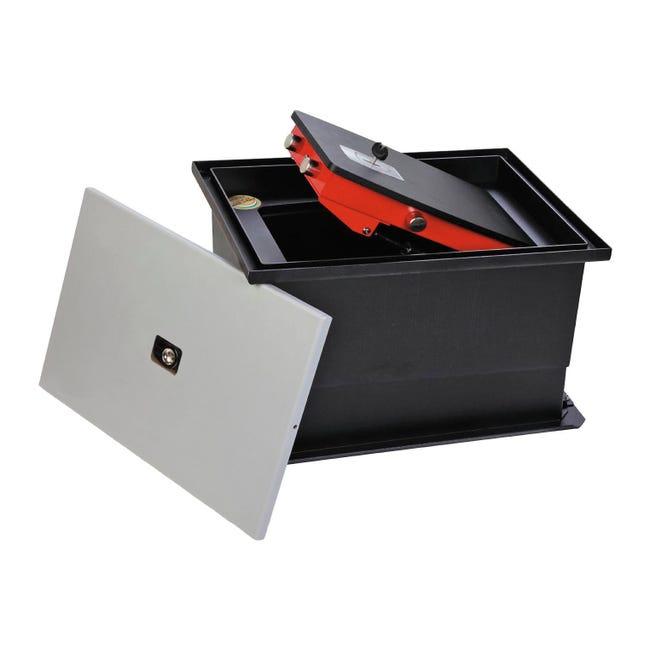 Cassaforte a chiave TECHNOMAX NF/4K da incassare a pavimento L44 x P32 x H21 cm - 1