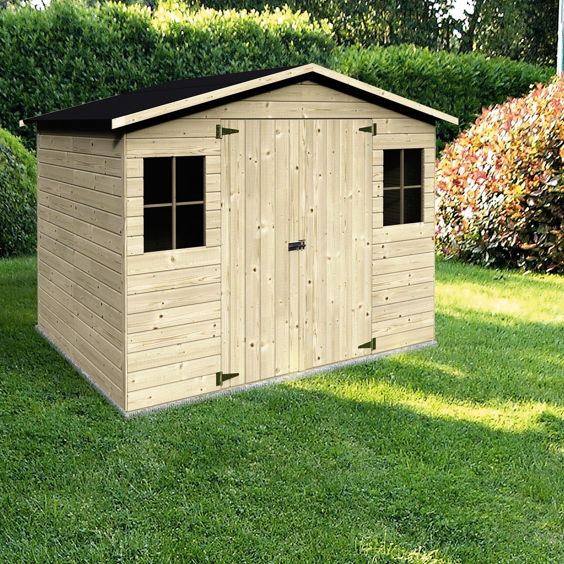 Casetta da giardino in legno Bouganvillea, superficie interna 4.32 m² e spessore parete 12 mm - 1