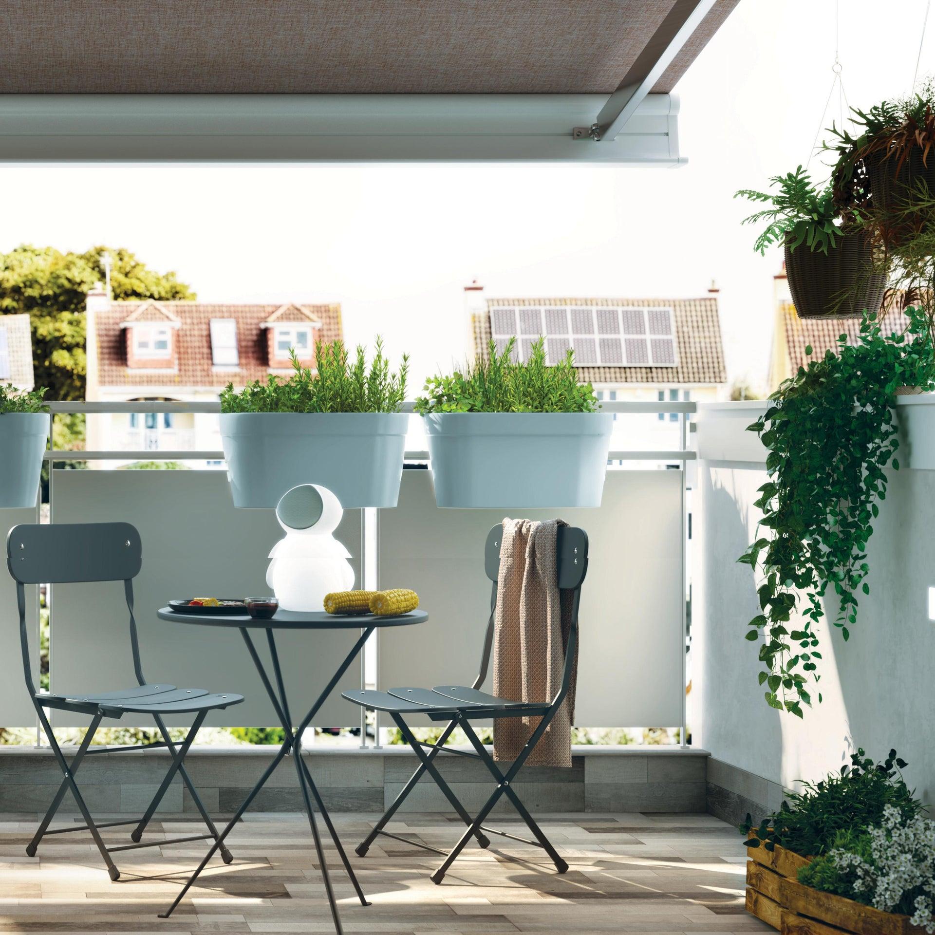 Sedia da giardino senza cuscino pieghevole Cassis colore antracite - 3