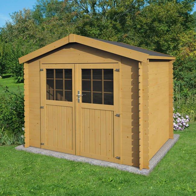 Casetta da giardino in legno Impregnata Narciso, superficie interna 3.73 m² e spessore parete 19 mm - 1