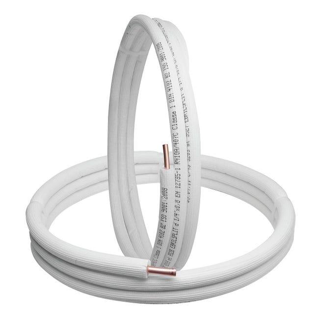 Tubo di rame isolato 1/4 +3/8 sp.1 mm 3 m - 1