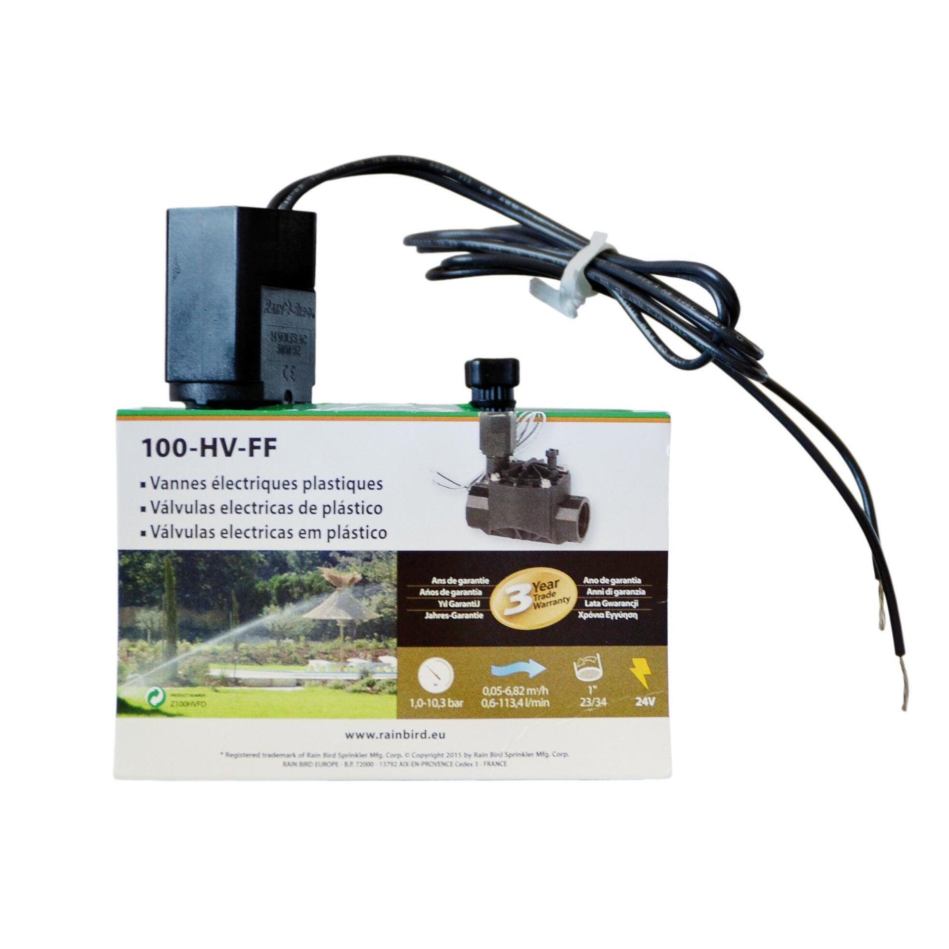 Elettrovalvola con regolatore di flusso RAIN BIRD 100 HV FF 24 V - 2