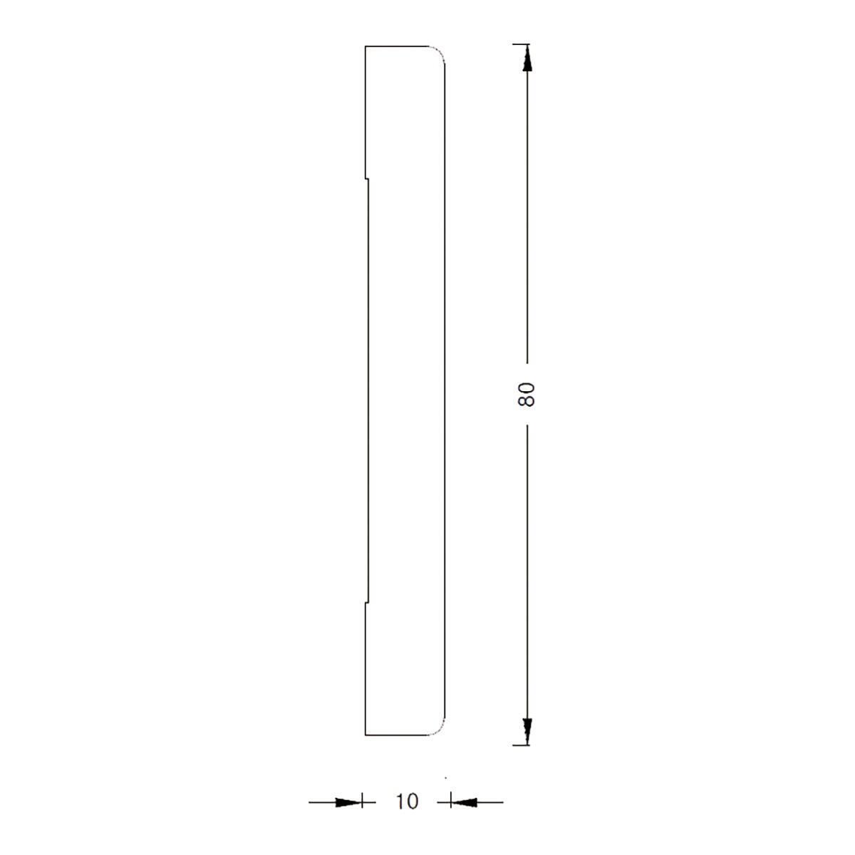 Coprifilo in legno legno massello naturale L 2250 x P 10 x H 80 mm - 6