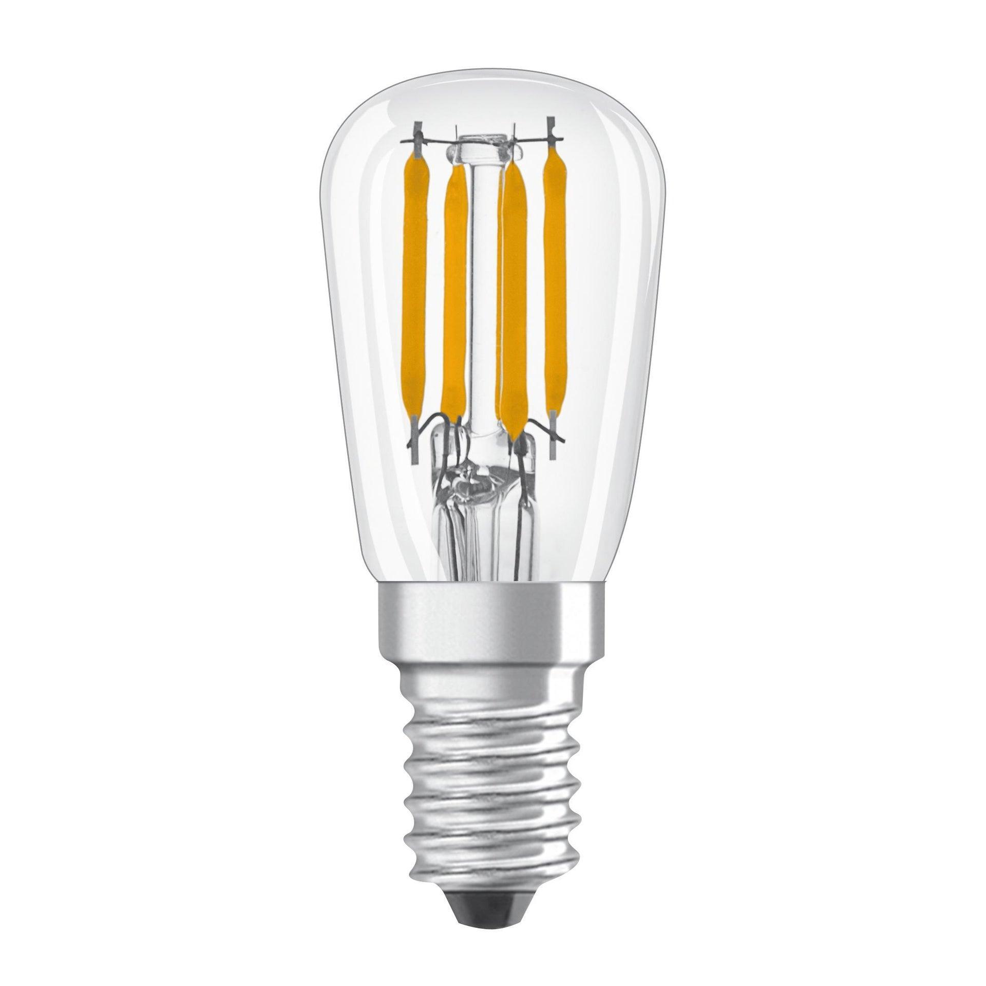 Lampadina LED, E14, Bulbo, Trasparente, Luce fredda, 2.8W=250LM (equiv 20 W), 320° , OSRAM - 1
