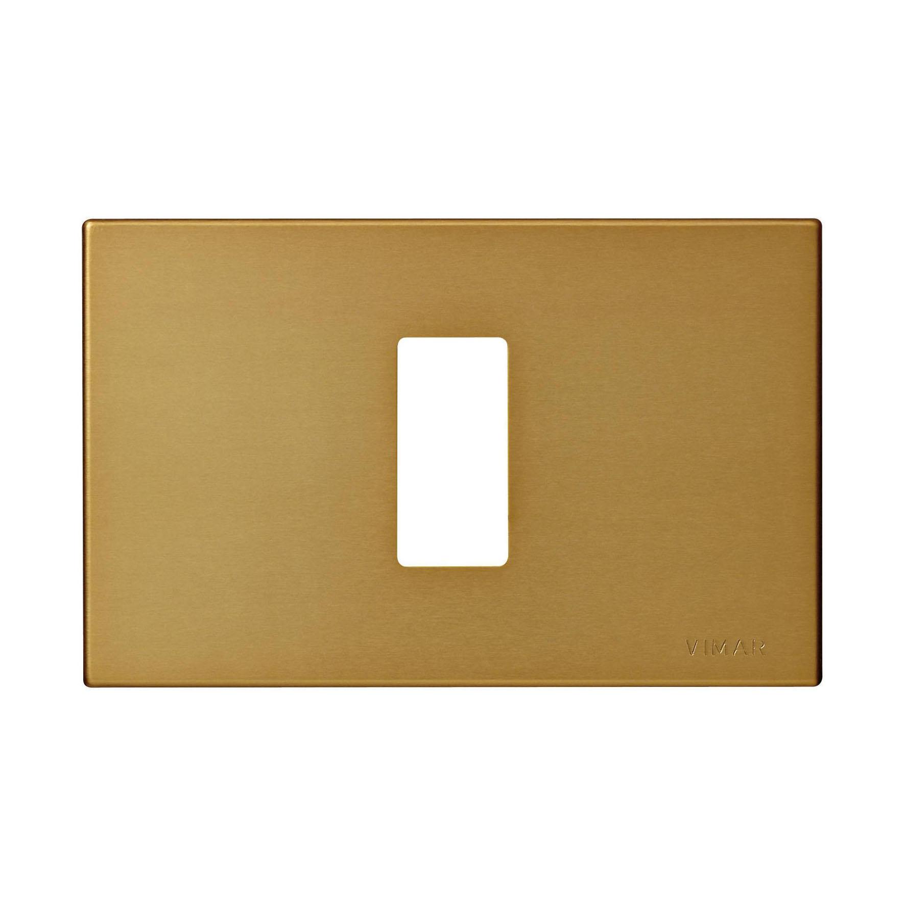 Placca 8000 VIMAR 1 modulo bronzo