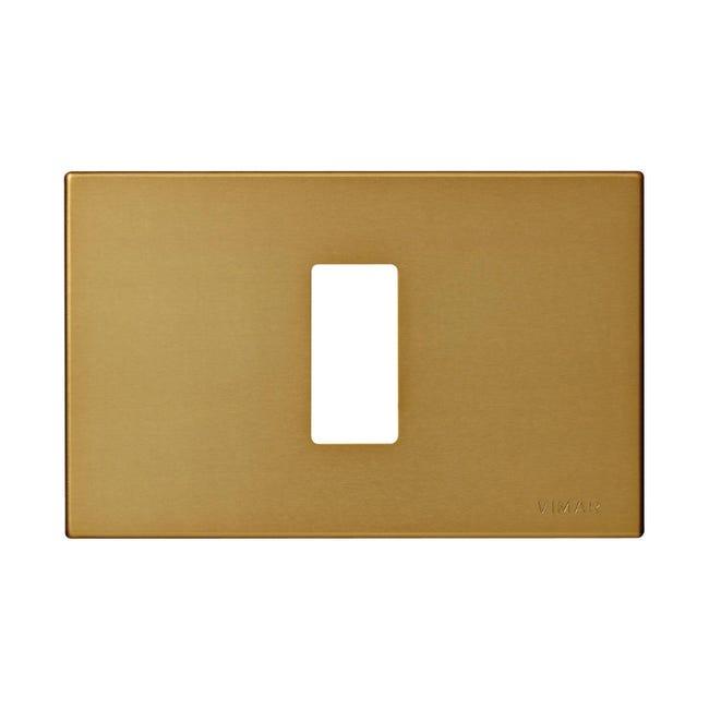 Placca 8000 VIMAR 1 modulo bronzo - 1