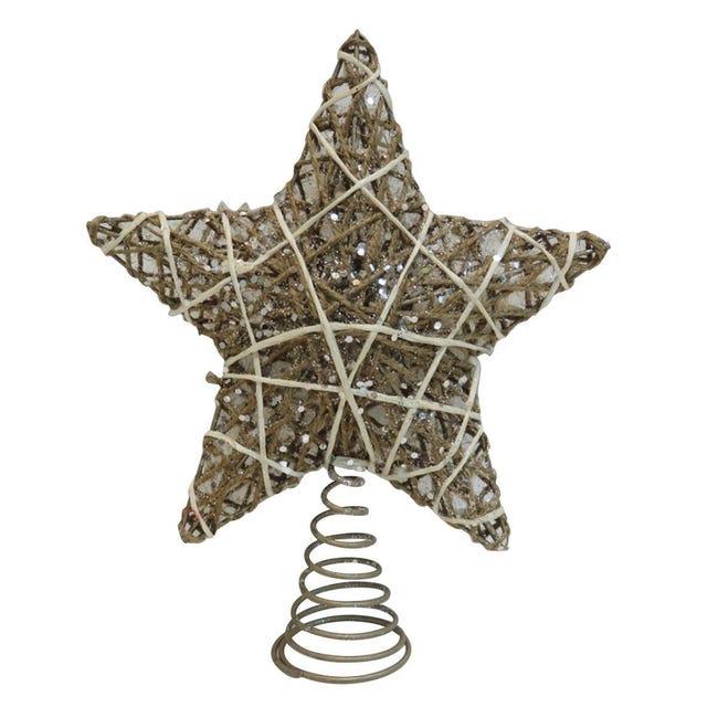 Puntale per albero di natale biancoin metallo H 30 cm - 1