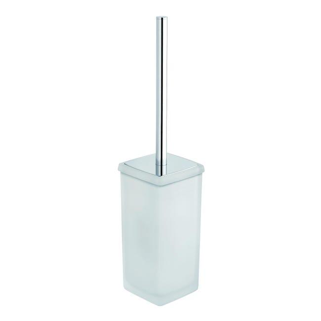 Porta scopino wc a muro Aida in vetro trasparente - 1