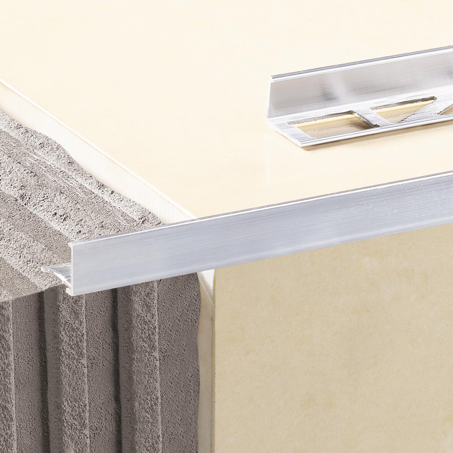 Profilo angolare interno in alluminio anodizzato Sp 17.4 mm L 250 cm grigio - 1