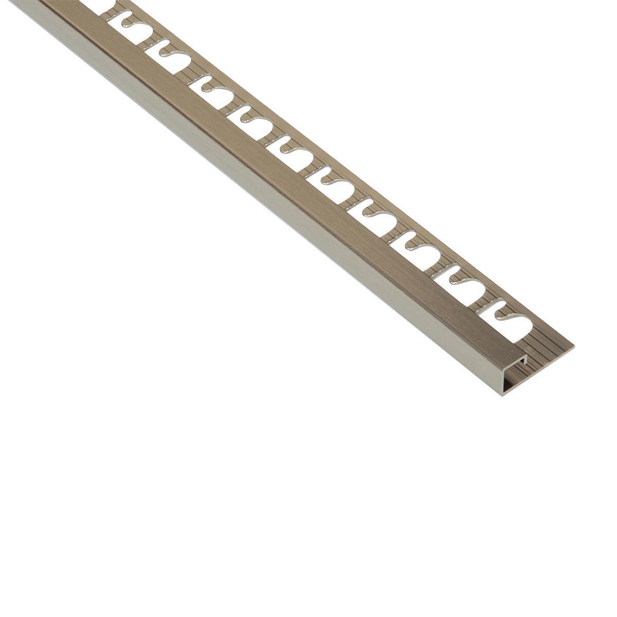 Profilo angolare interno Projolly Square All alluminio 3 x 270 cm