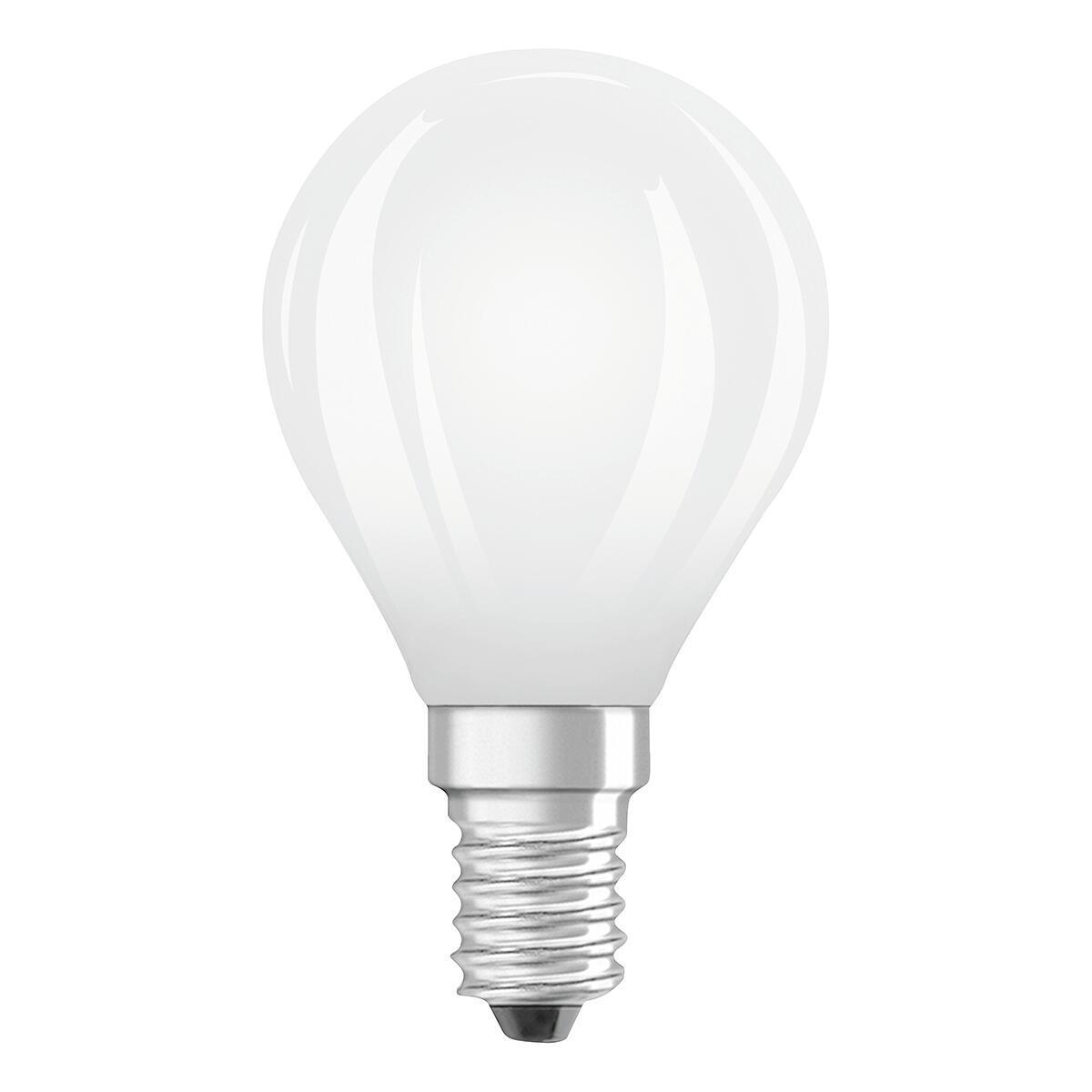 Lampadina LED filamento, E14, Goccia, Opaco, Luce naturale, 6W=806LM (equiv 60 W), 320° , OSRAM - 1