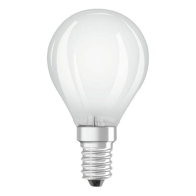 Lampadina LED filamento, E14, Sferico, Opaco, Luce naturale, 5W=470LM (equiv 40 W), 320° , OSRAM - 1